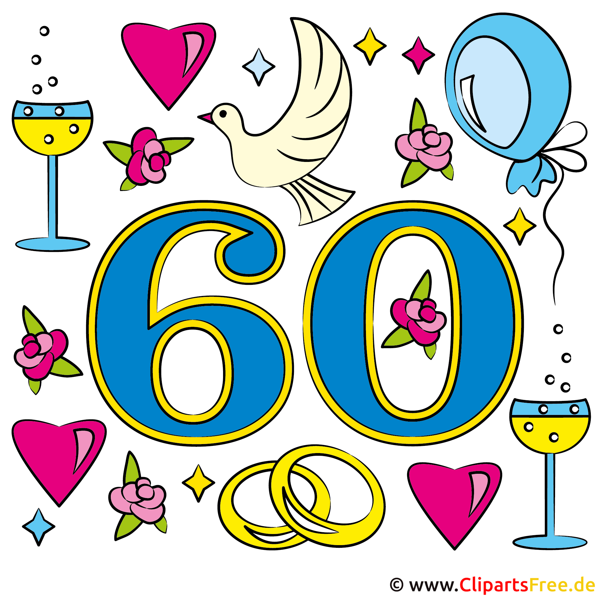 Hochzeitstage 60 Diamantene Hochzeit Gluckwunsche
