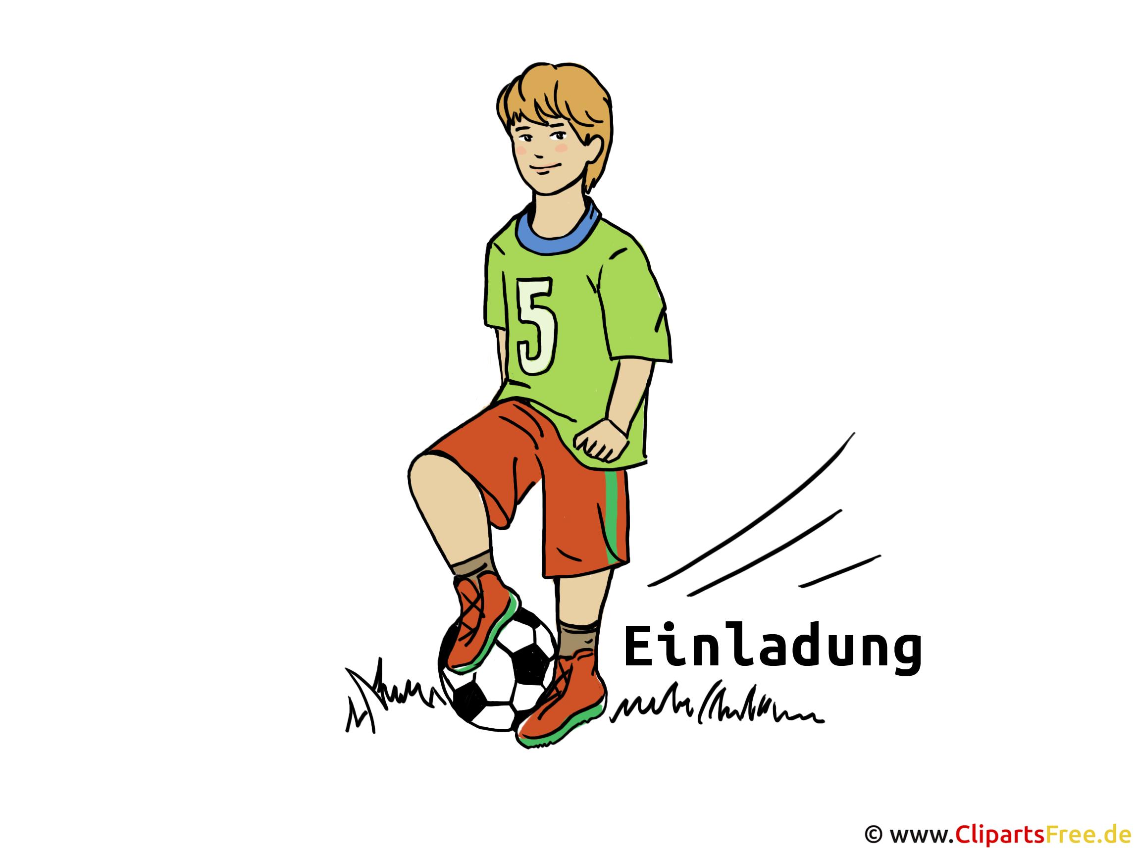 Einladung Fussballspiel