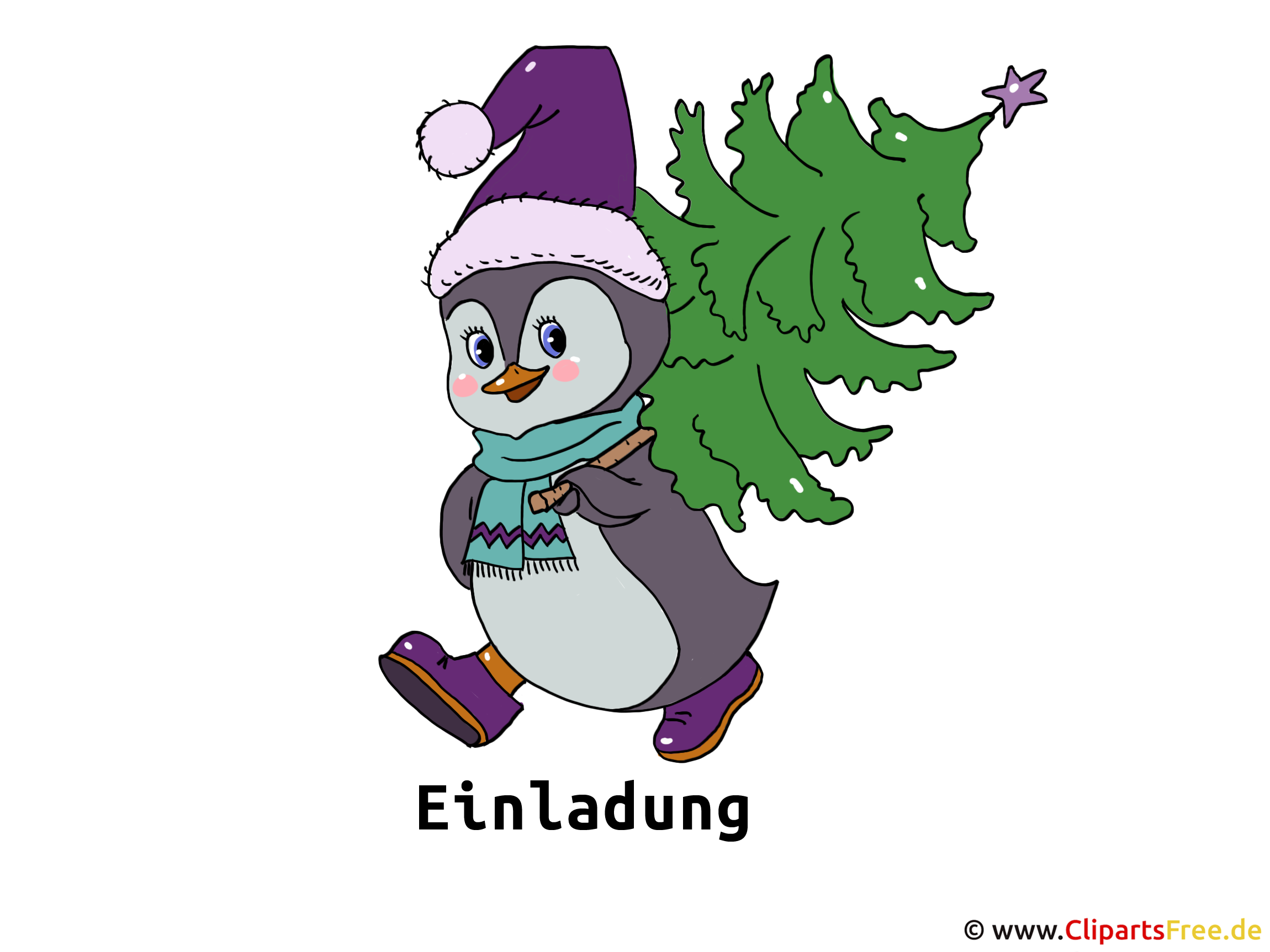 Silvesterparty Einladung Clipart