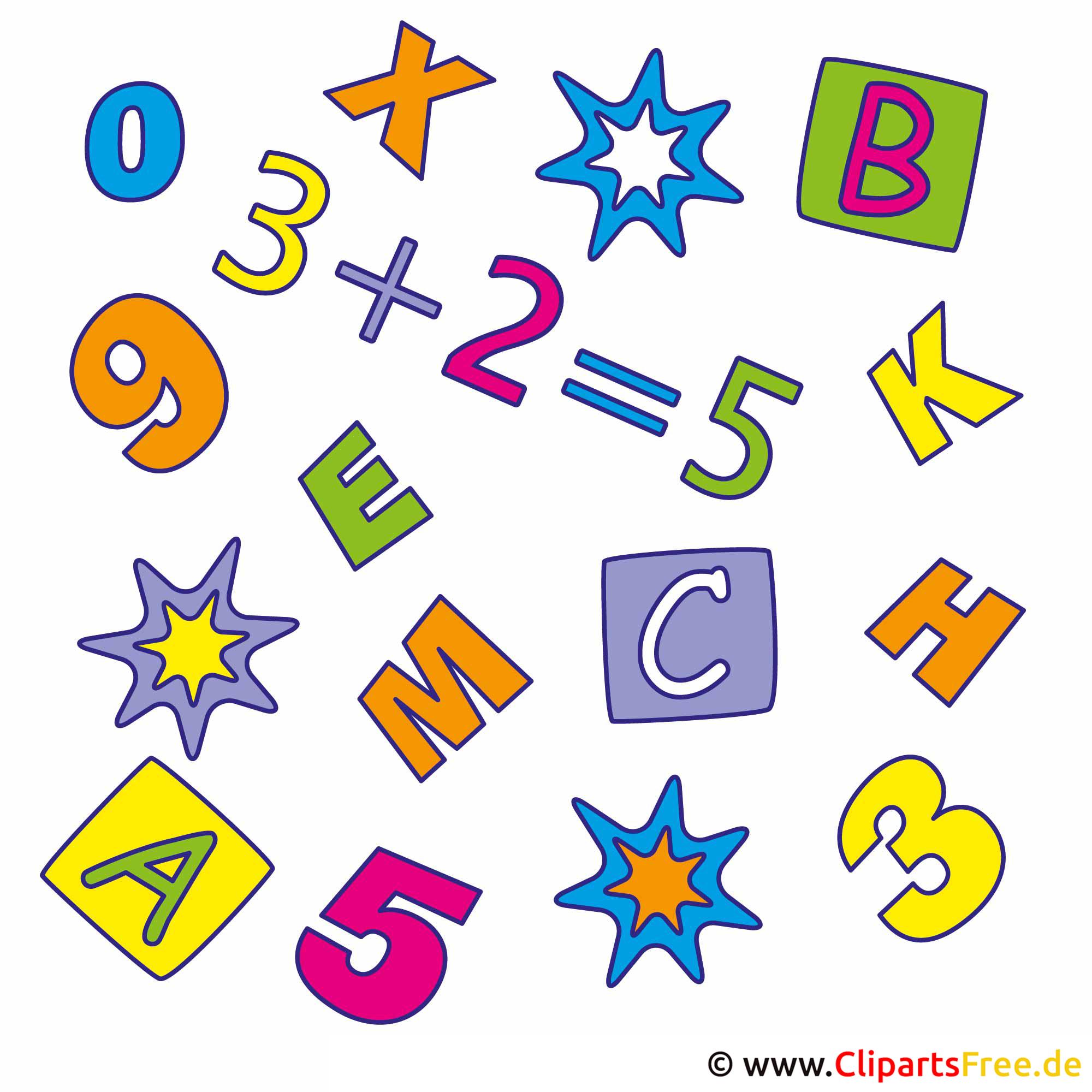Buchstaben Clipart für Schule kostenlos