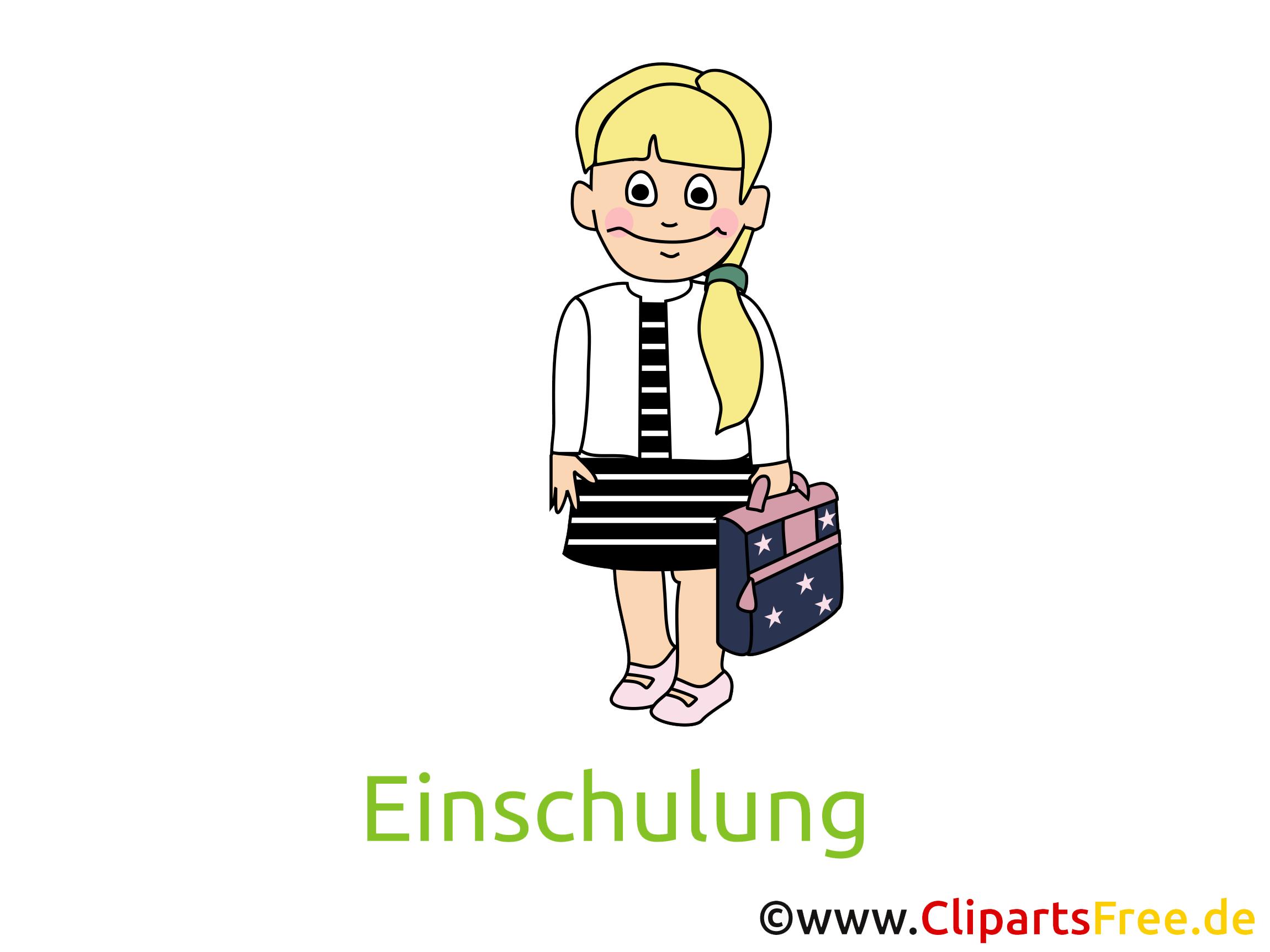 Clipart Schule, Mädchen, Schülerin