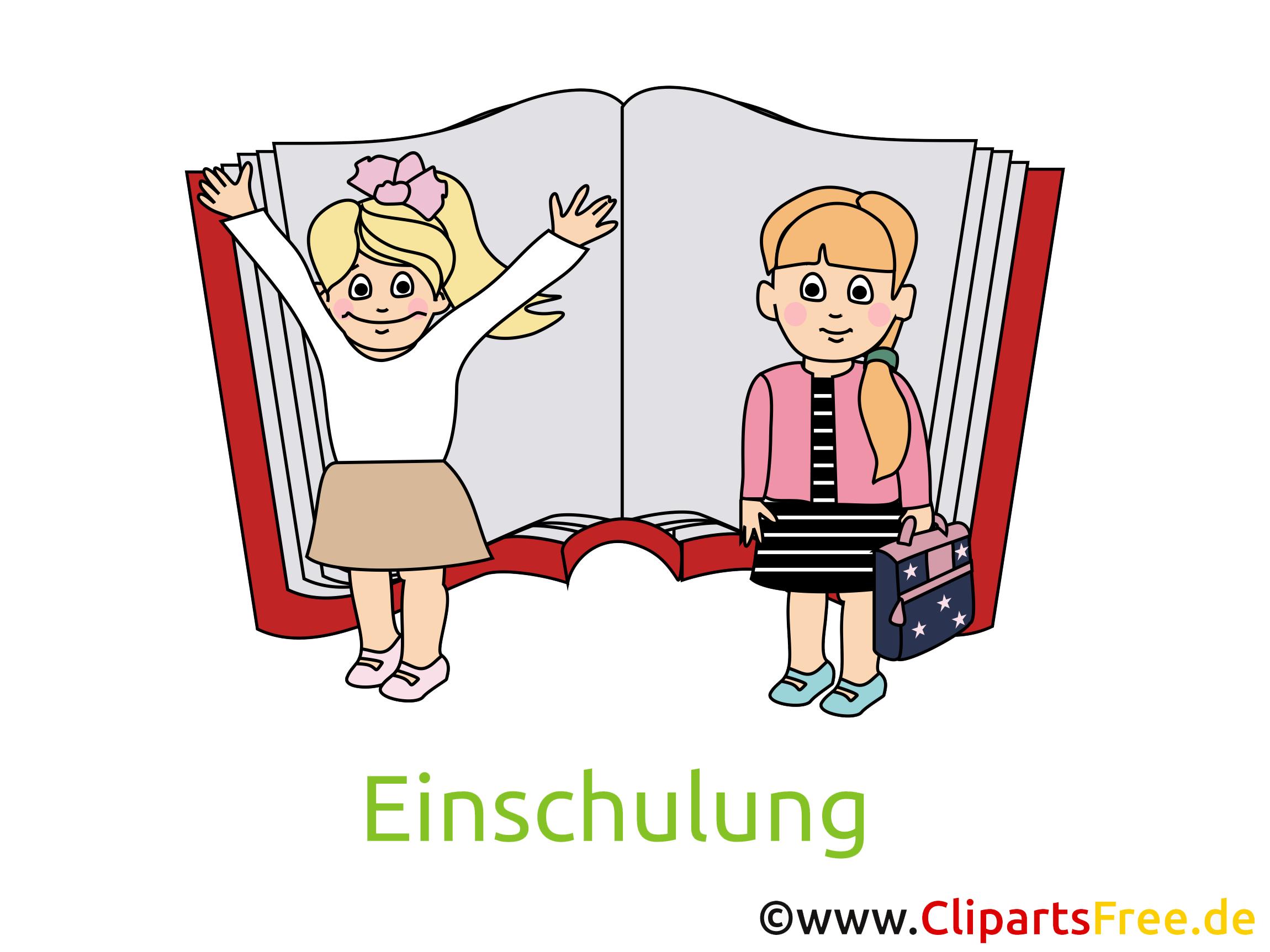 Cliparts Einschulung, Schulanfang kostenlos