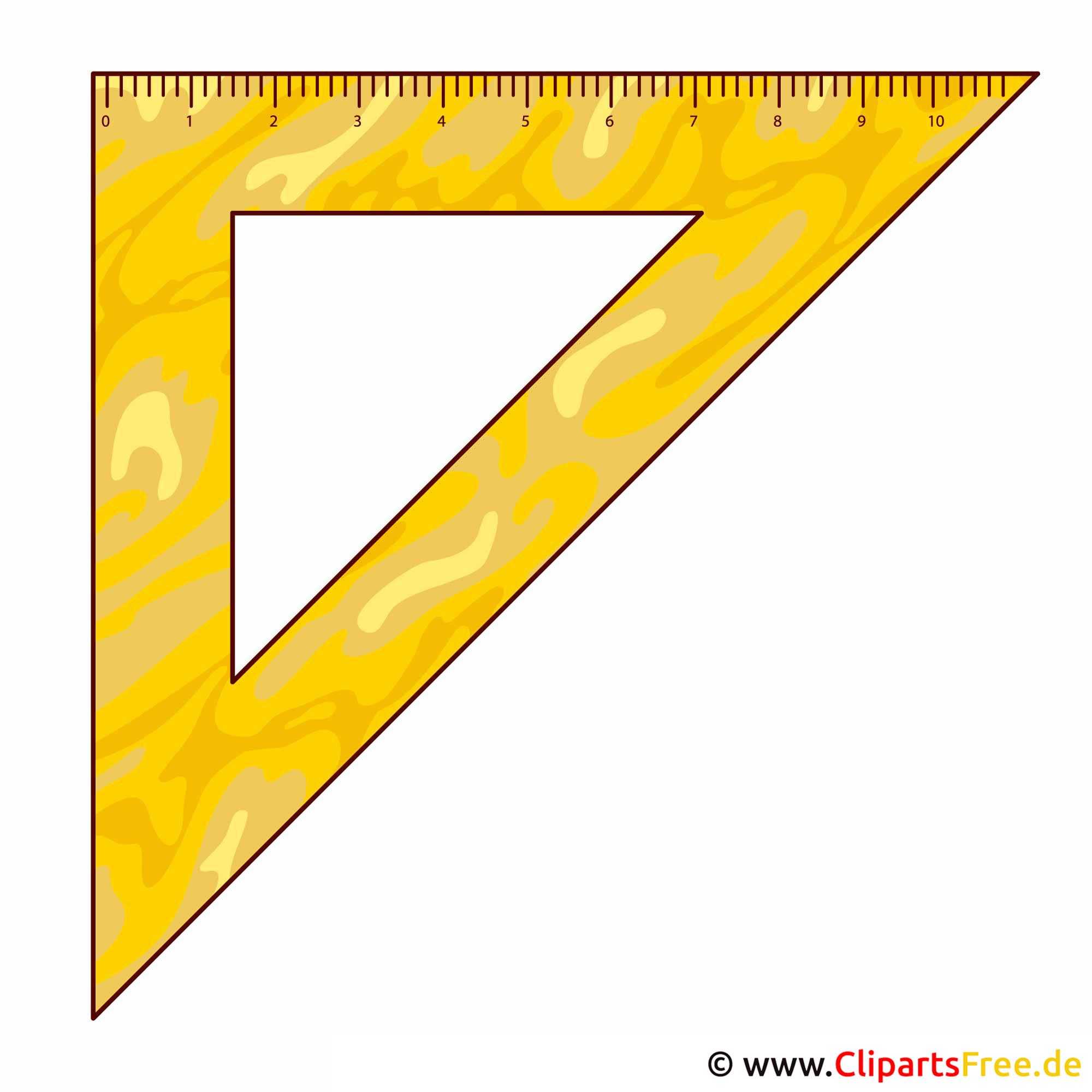 Dreieck Lineal -Bilder für Schule kostenlos