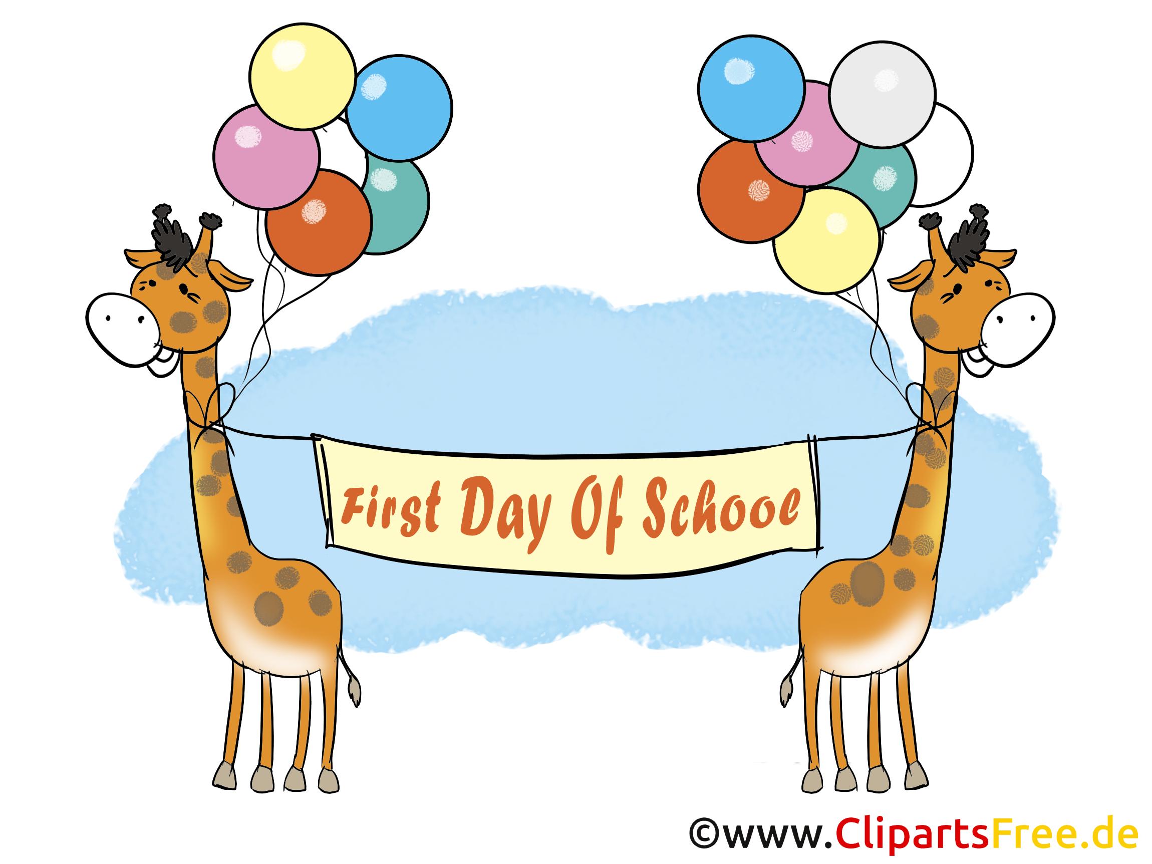 Illustration Erster Tag in der Schule