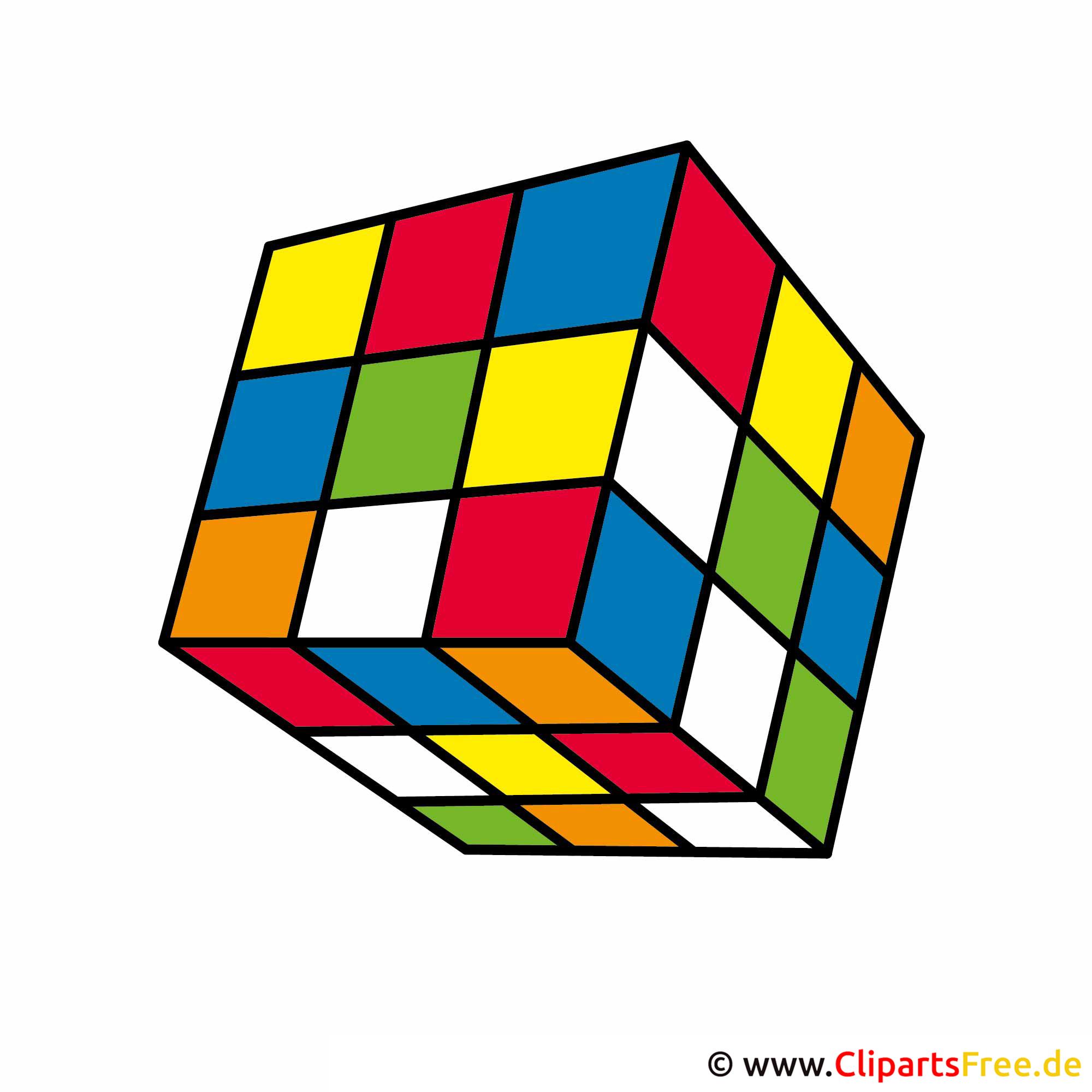 Rubiks Cube Clipart Bild kostenlos