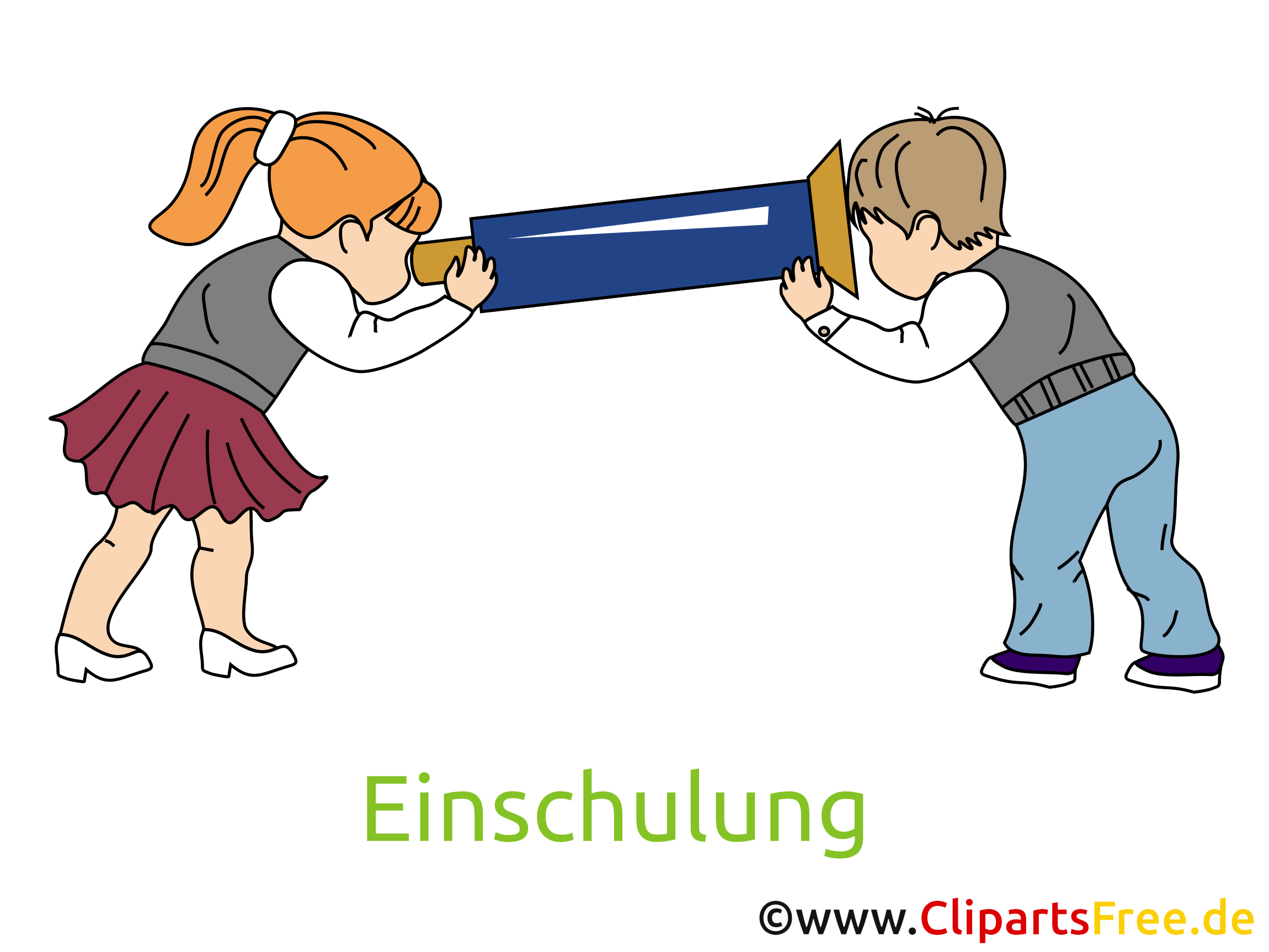 Schul-Kinder Bilder, Cliparts