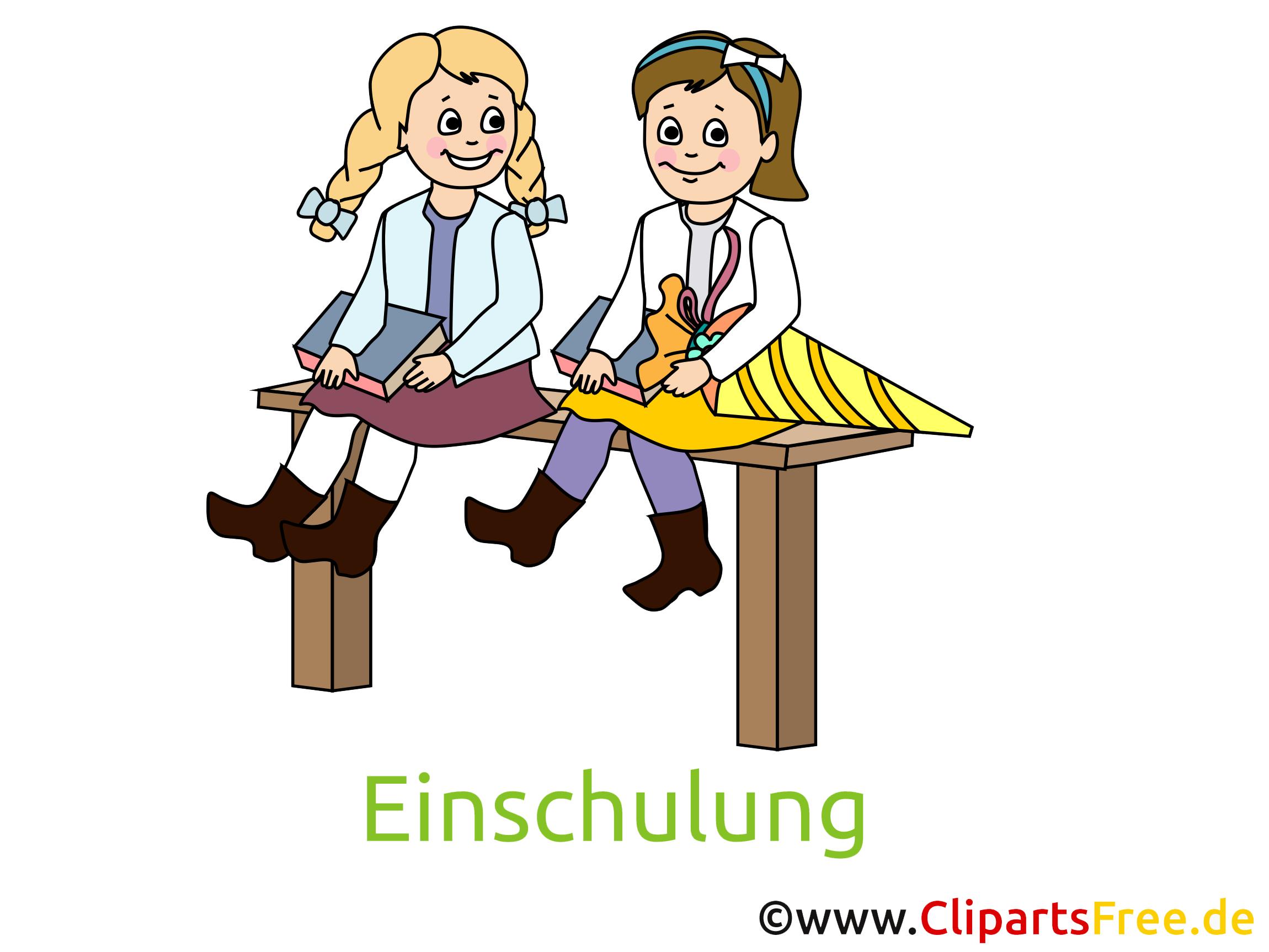 Schulkinder Bild, Clipart, Cartoon gratis