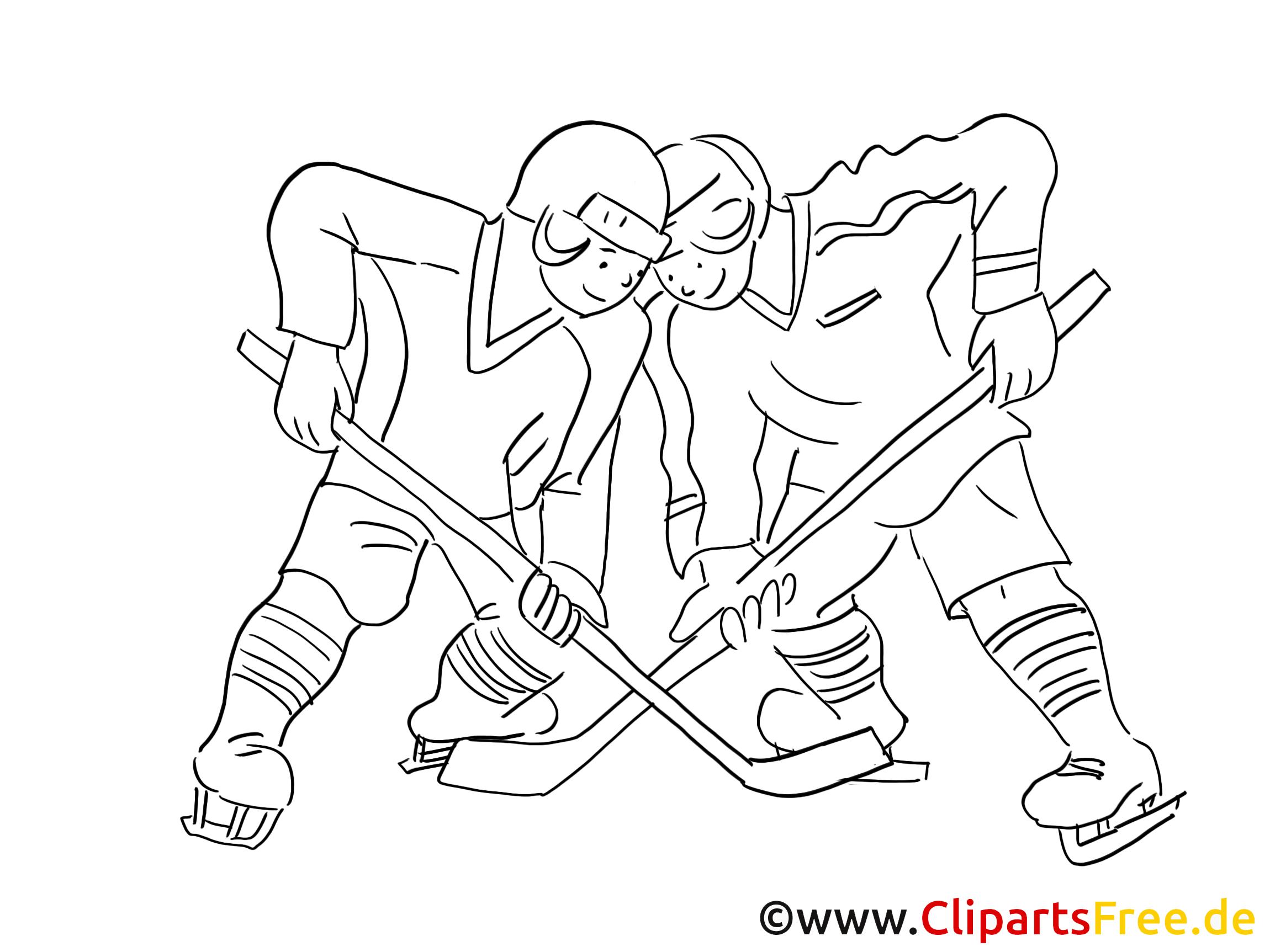 eishockey bild clipart grafik comic schwarzweiss zum