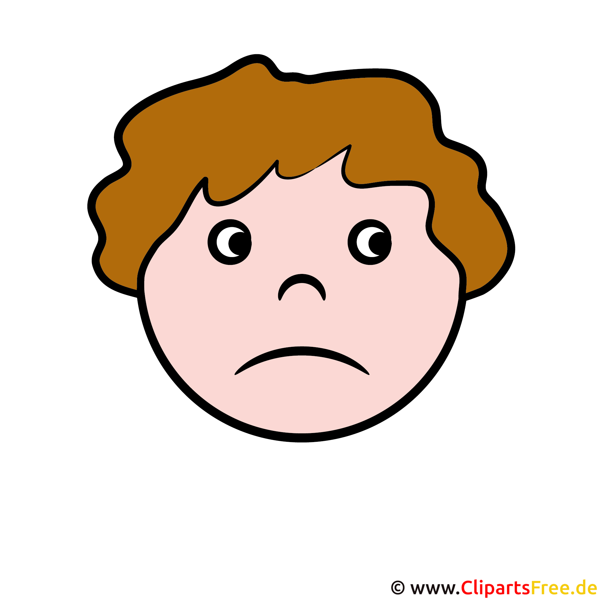 Gesicht traurig for Clipart gratis download
