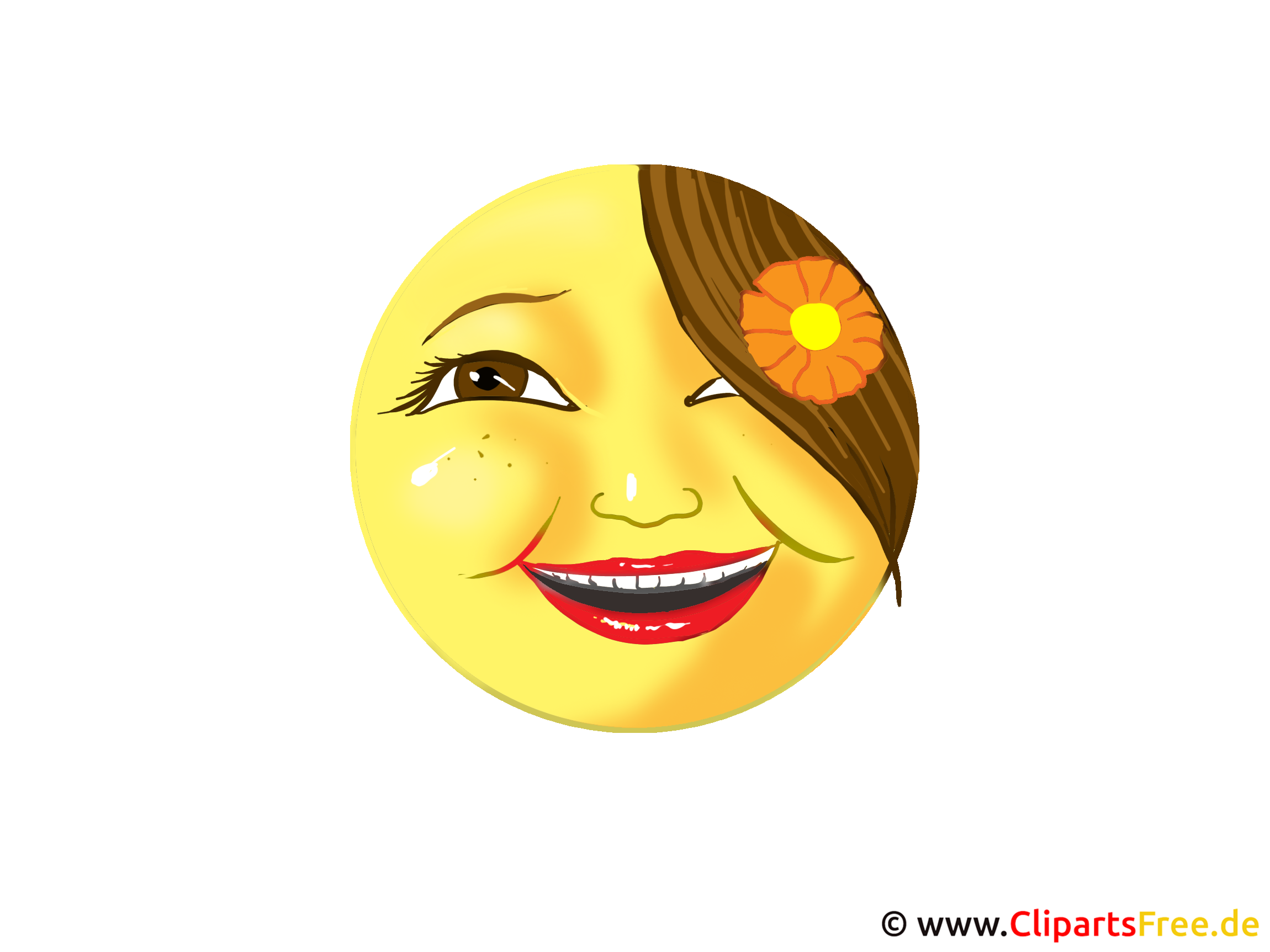 Smiley lachen