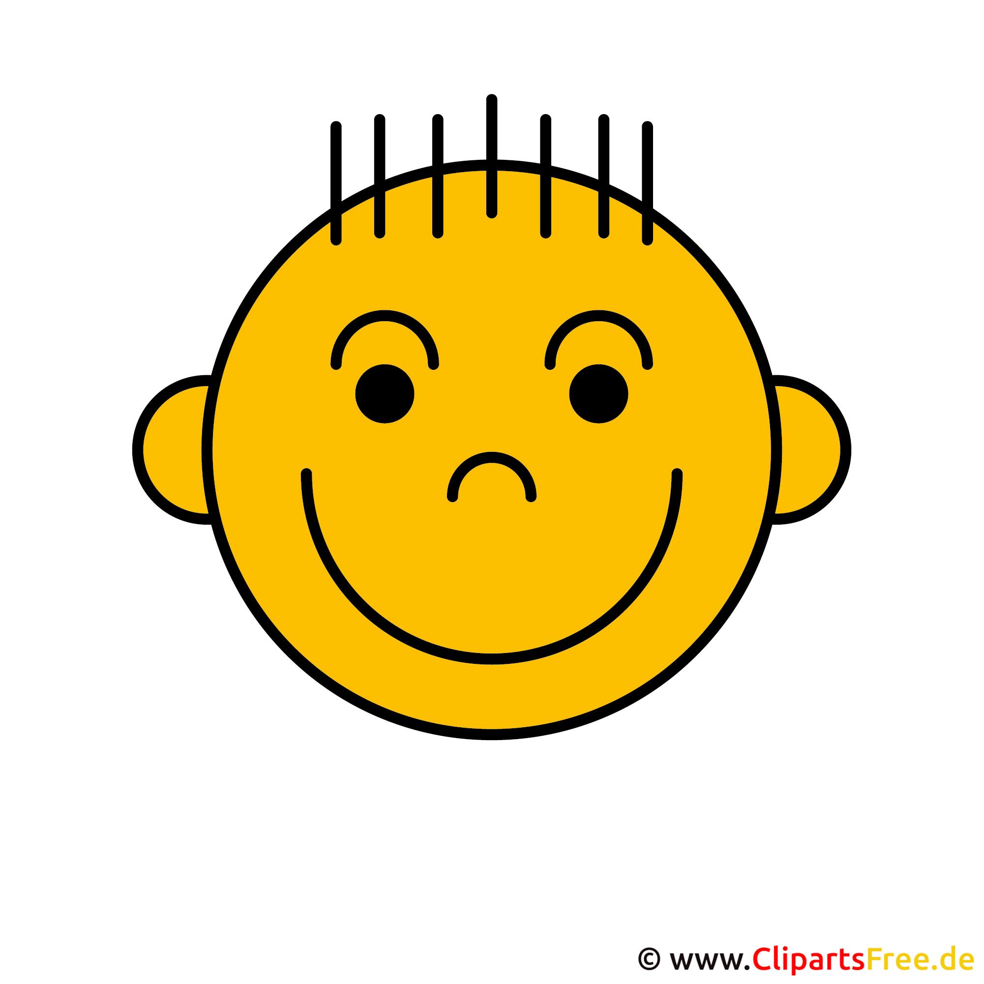 Smiley lachend