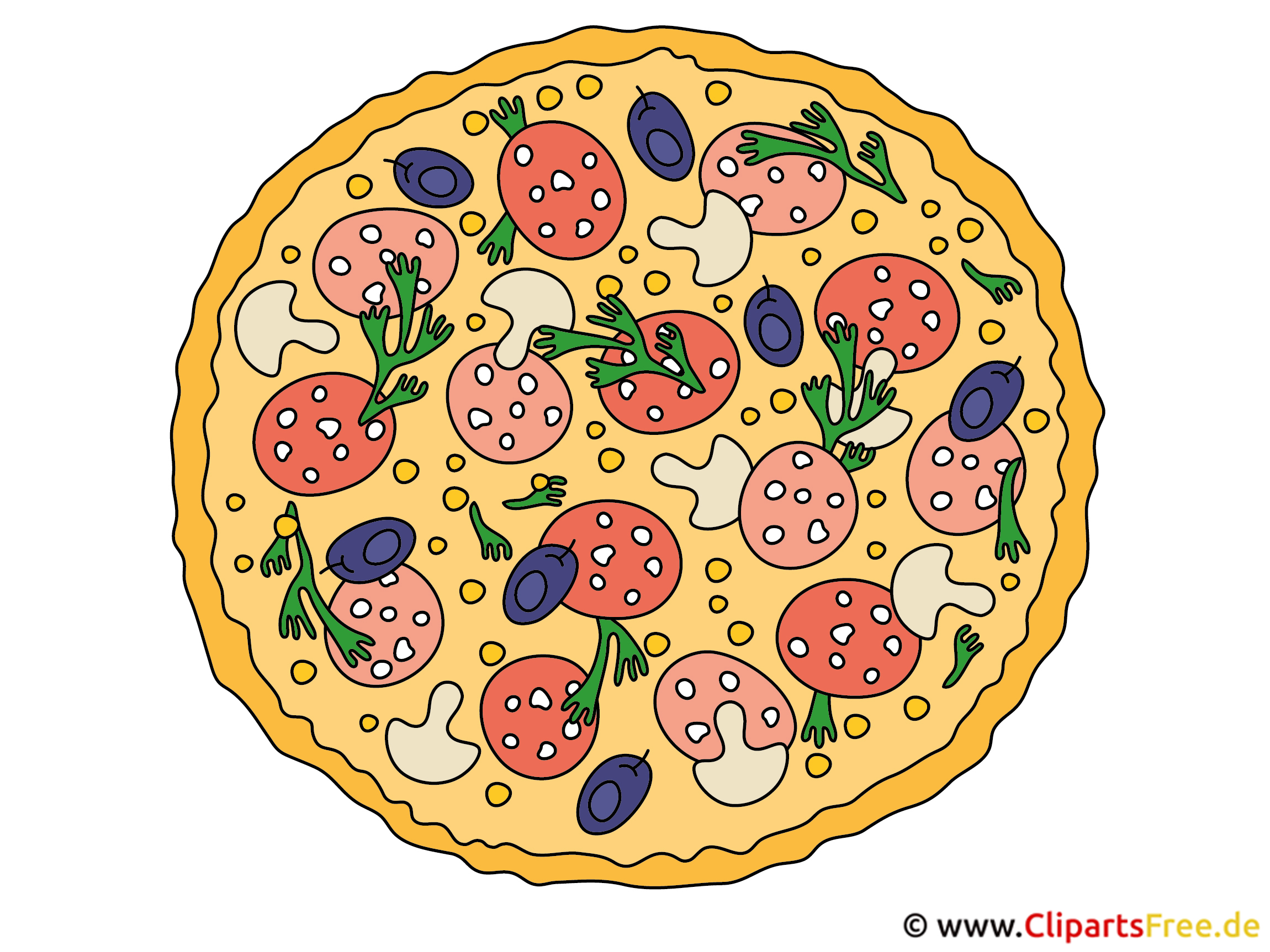 clipart pizza. Black Bedroom Furniture Sets. Home Design Ideas