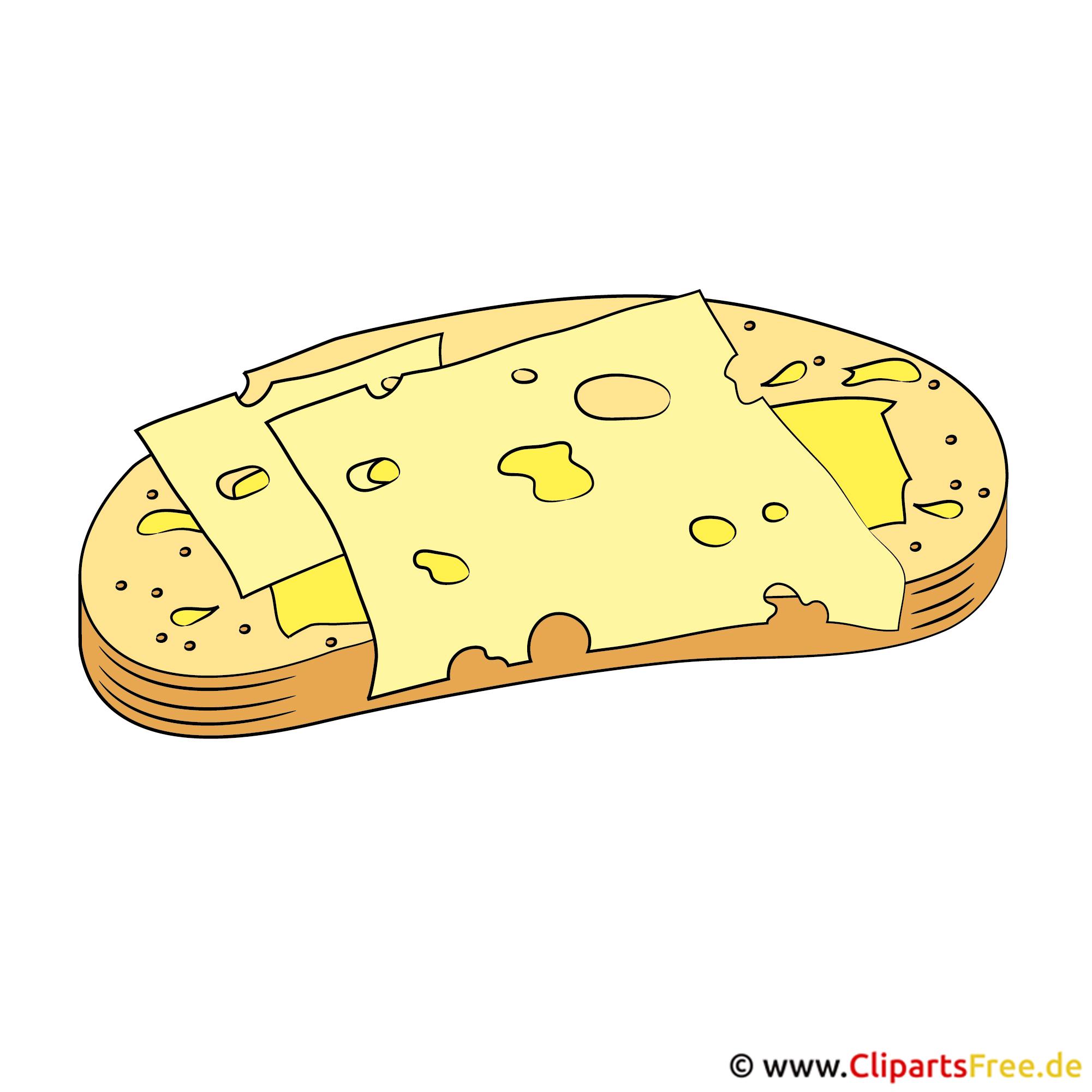 Cliparts Essen und Trinken - Käse und Brot
