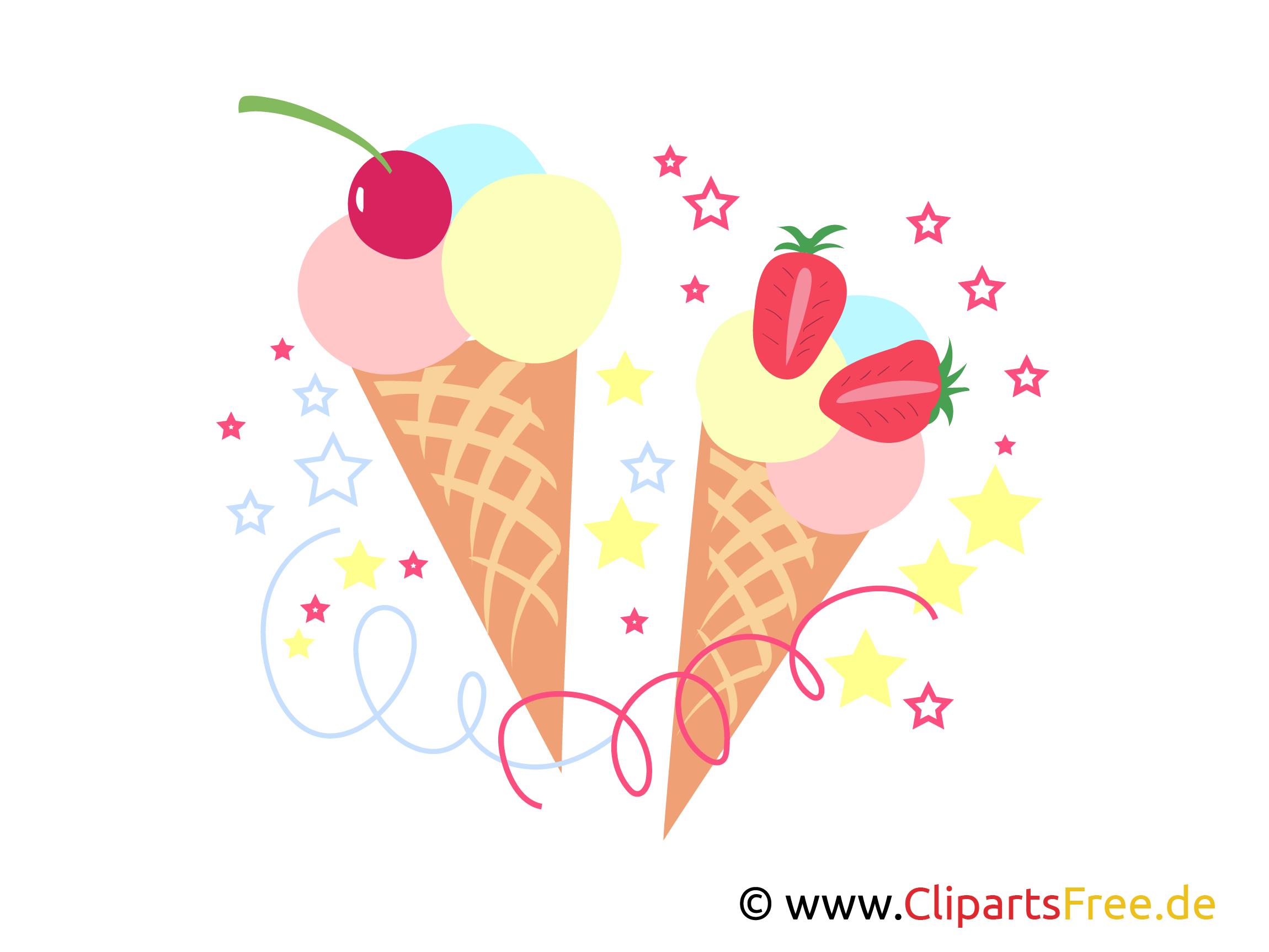 Eis Clipart, Grafik, E-Karte, Bild zum Geburtstag