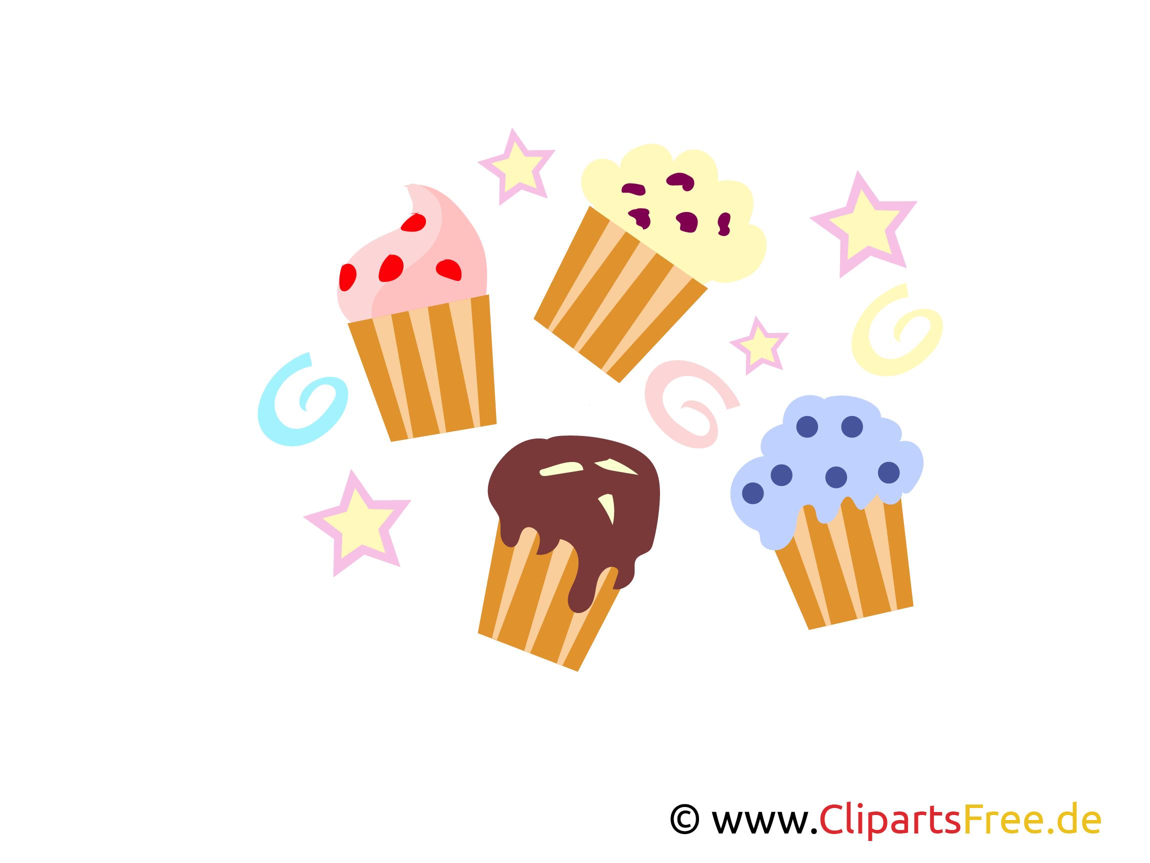 Kleine Kuchen Clipart, Bilder, Images, Illustrationen kostenlos