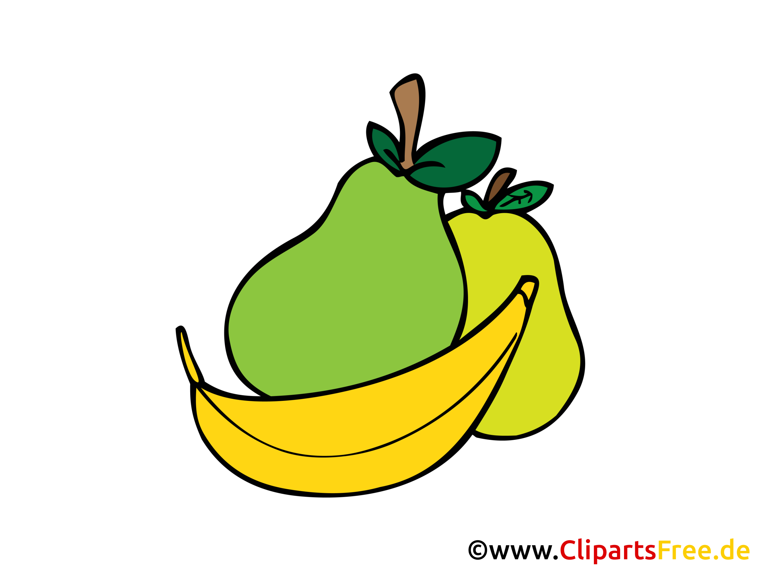 Obst Cliparts in Hochaufloesung