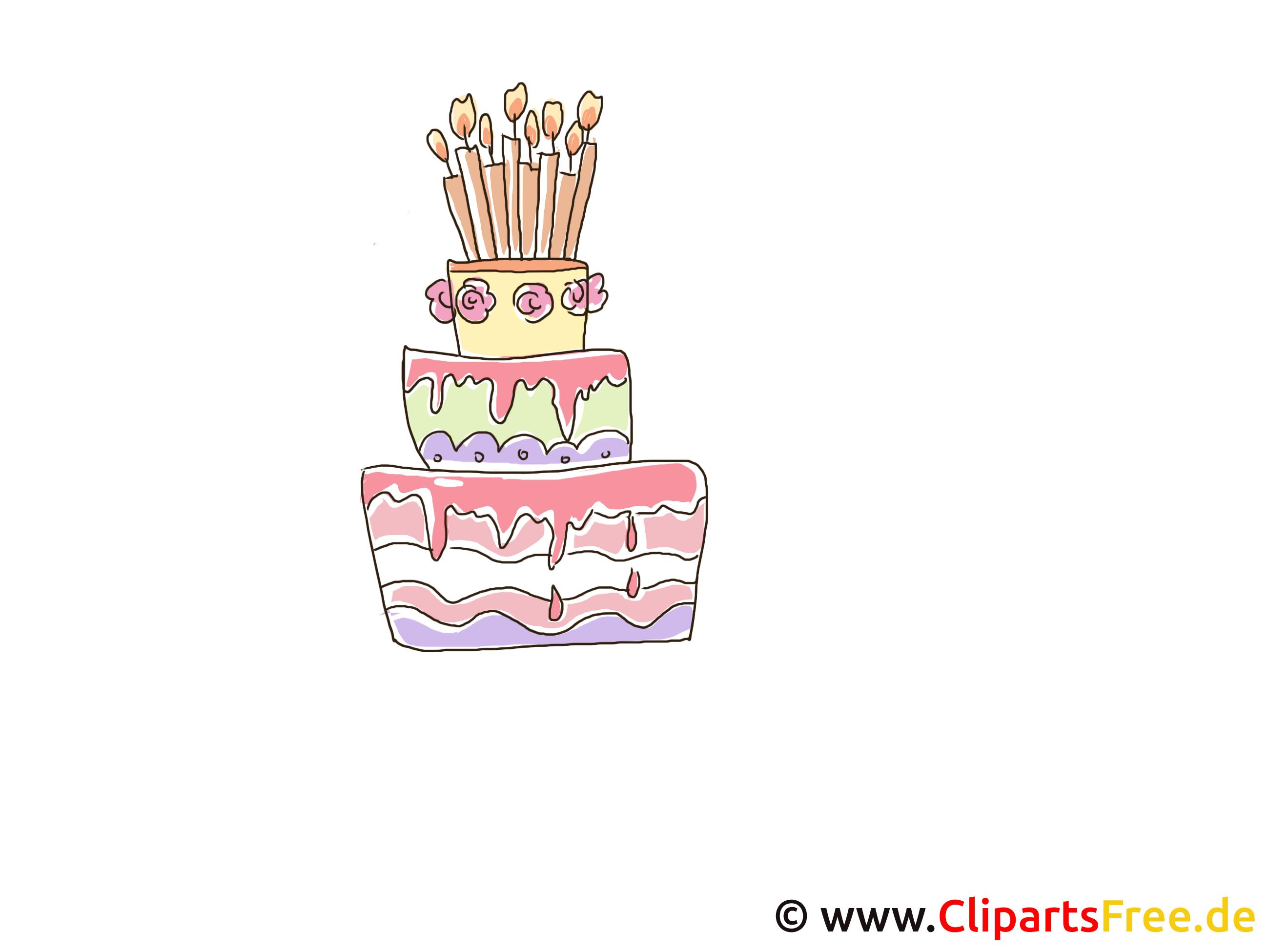 Torte mit Creme zum Geburtstag Clipart