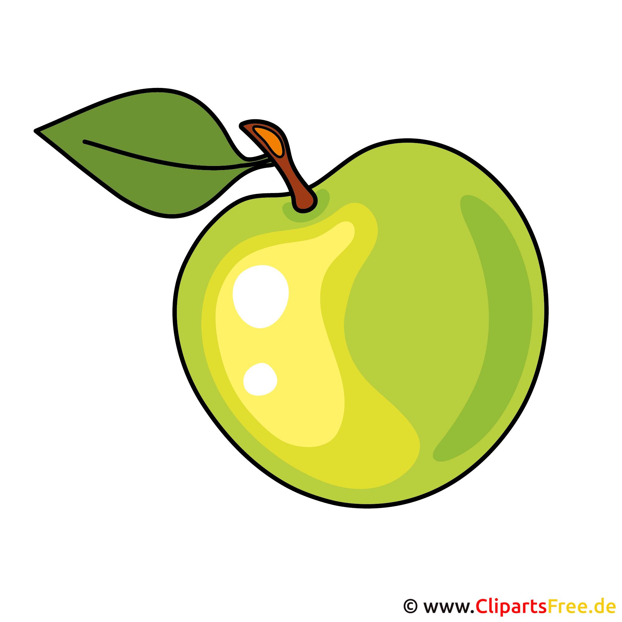 Grüner Apfel Bild, Clipart, Grafik