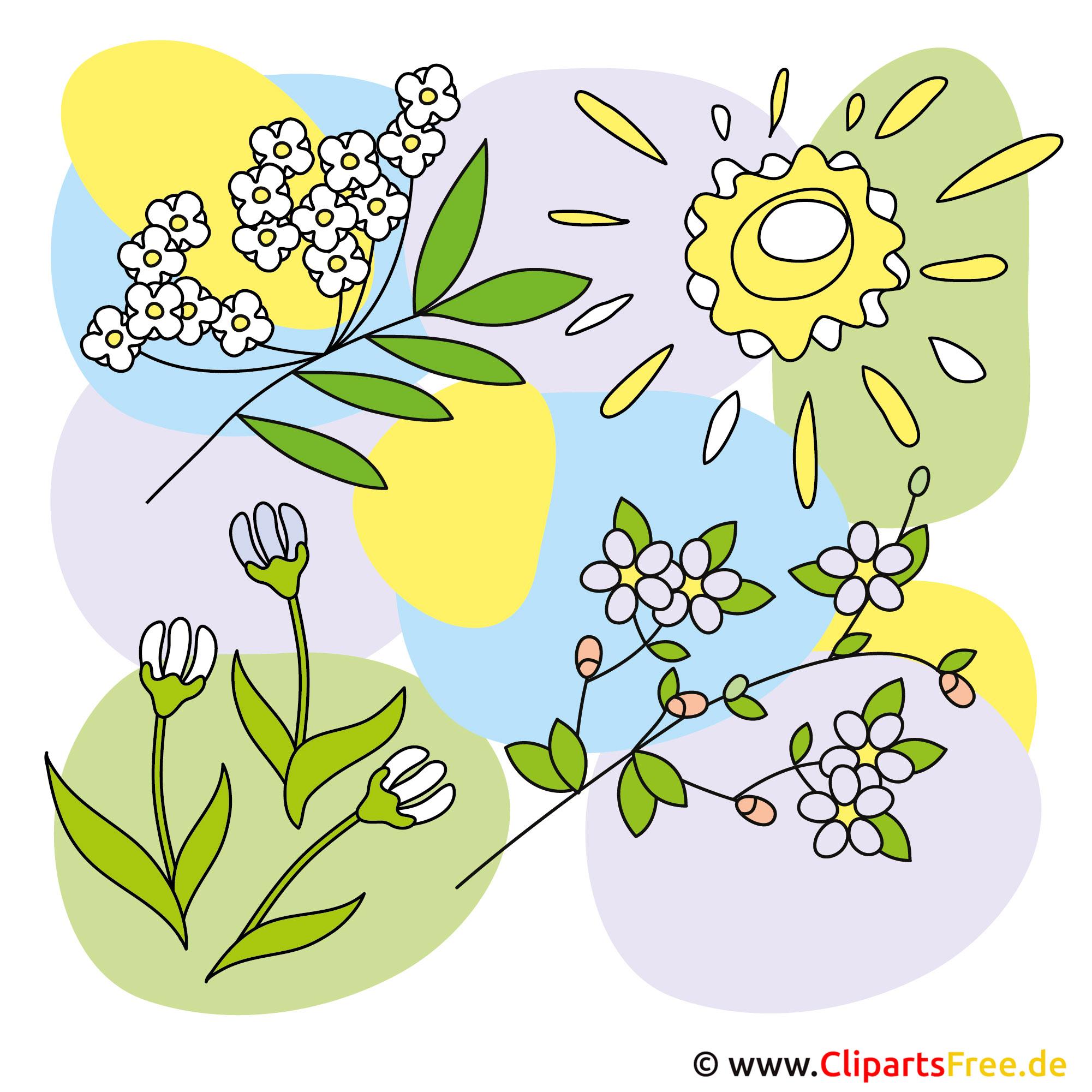 Blumen Fruehling Cliparts Kostenlos