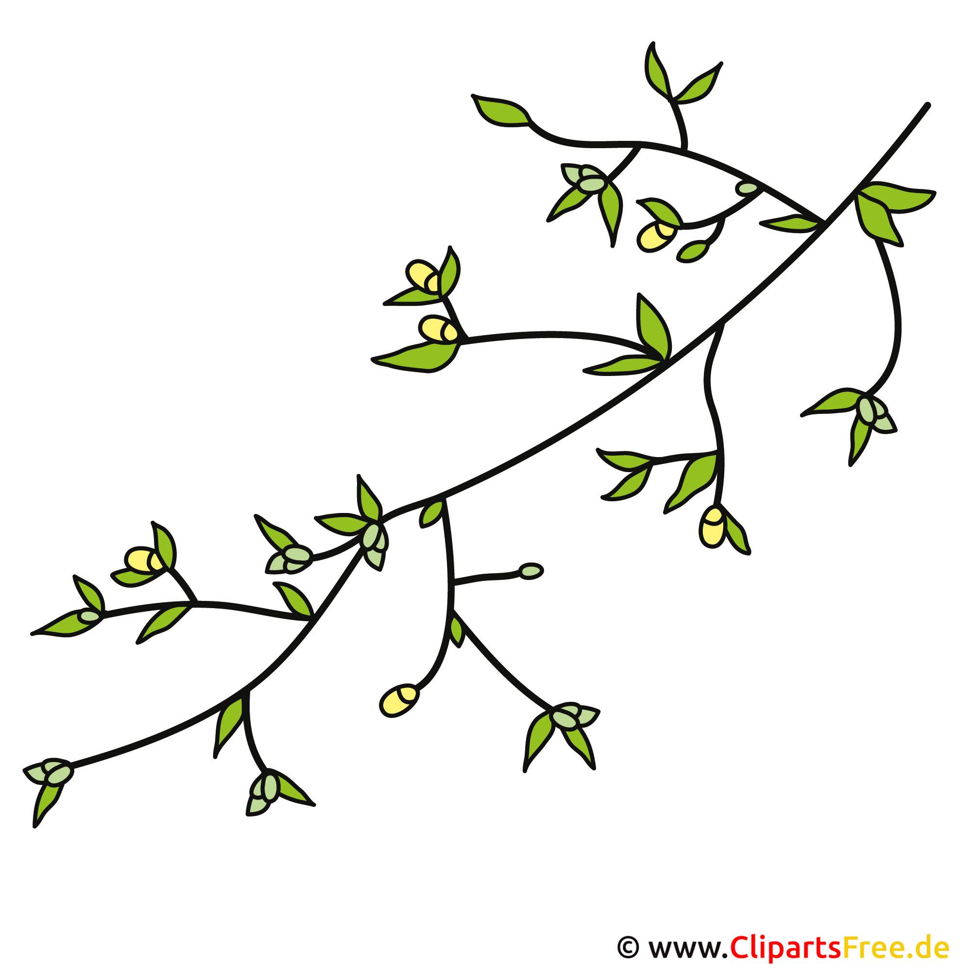 branch clip art black and white
