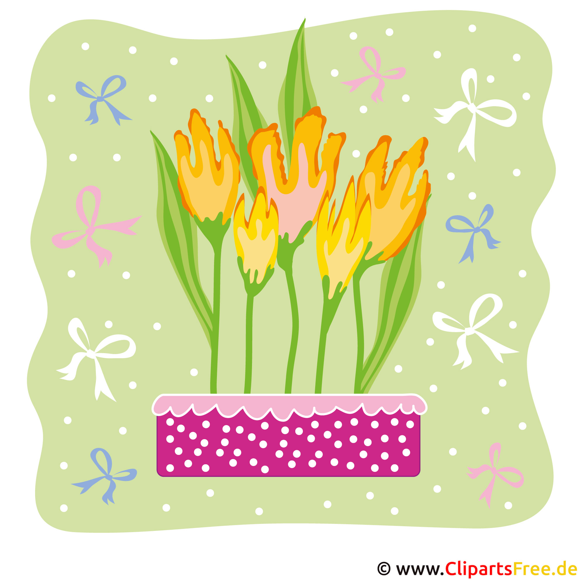 Tulpen Clipart - Fruehling Bilder kostenlos