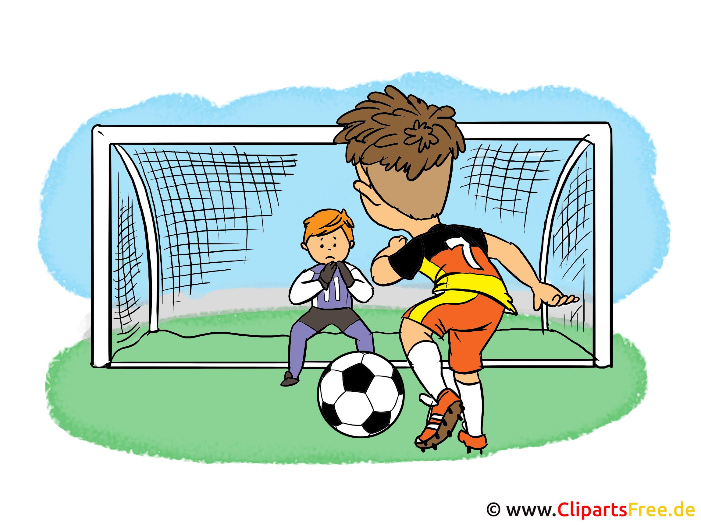 Cartoonbilder Fussball