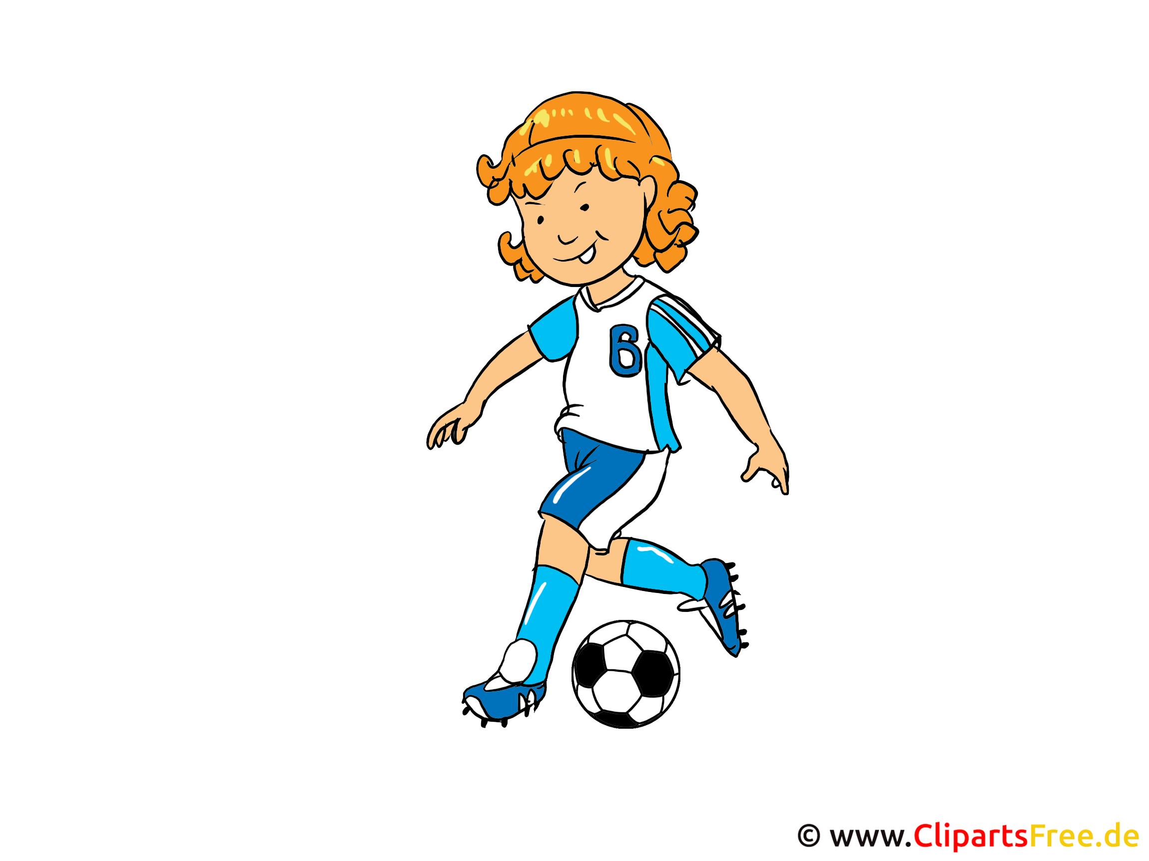 Frauenfußball Bild, Clipart, Illustration