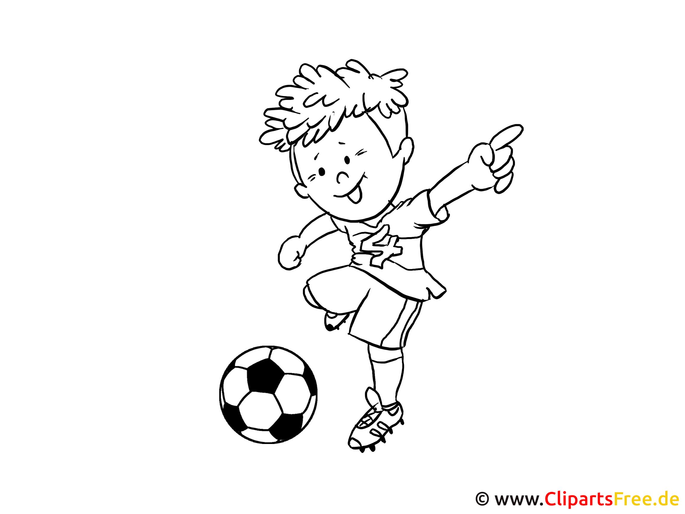 Fussball Zeichnung
