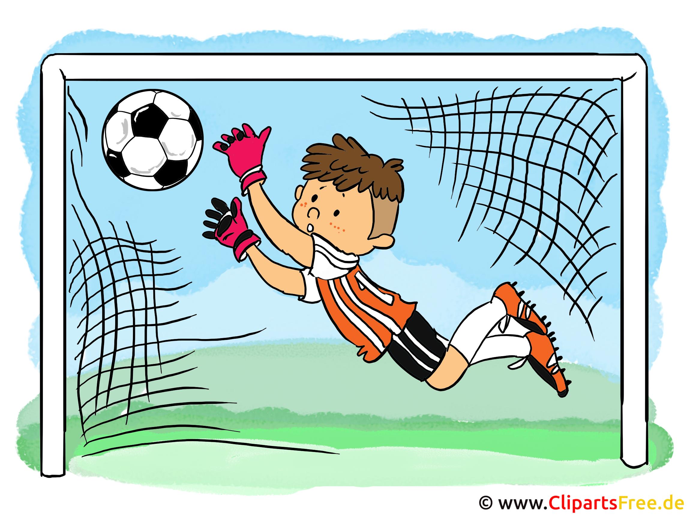 Illustration f r kinderbuch fussball torwart kid - Dessin gardien de but ...