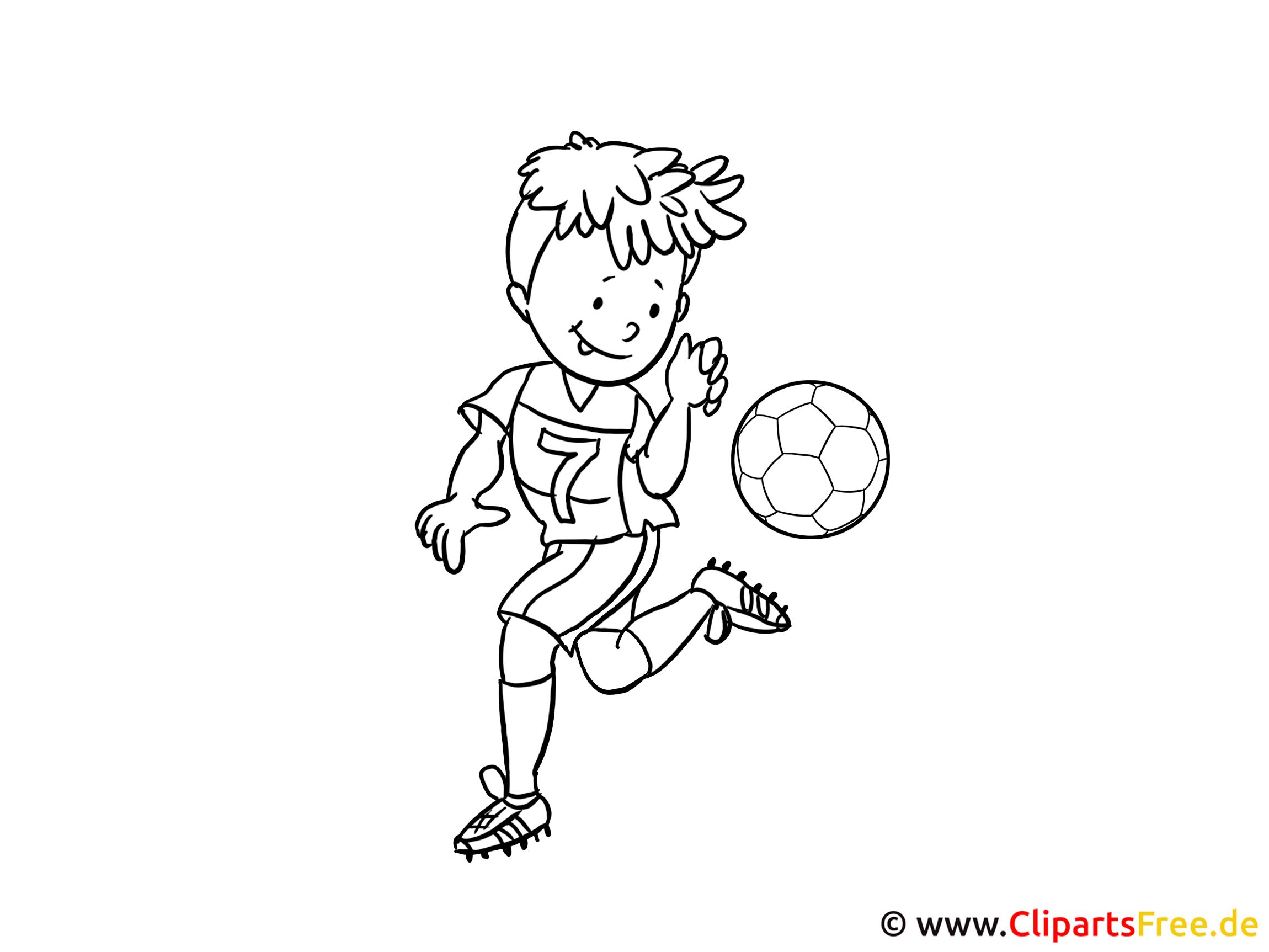 Kindermalvorlagen Fussball