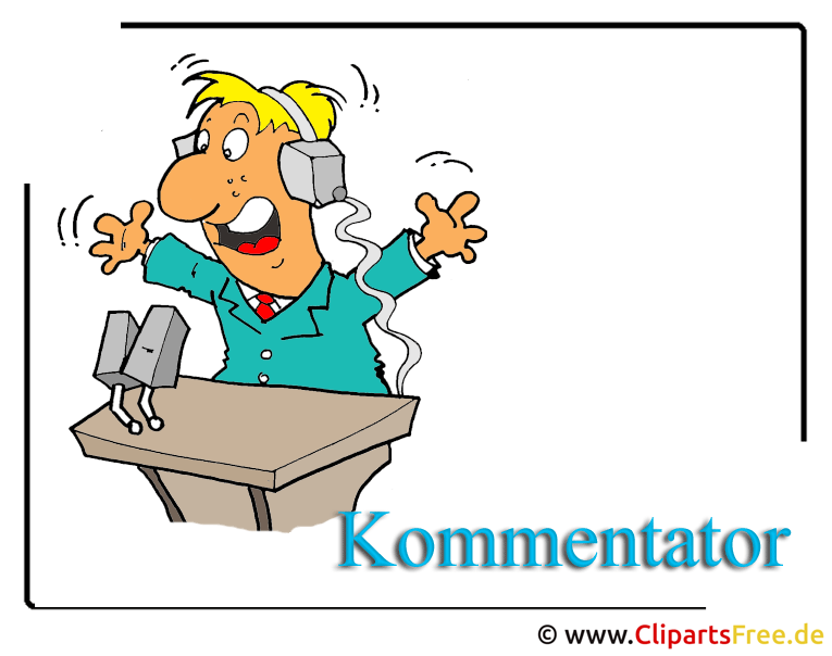 Sport Clipart free -Sport Kommentator