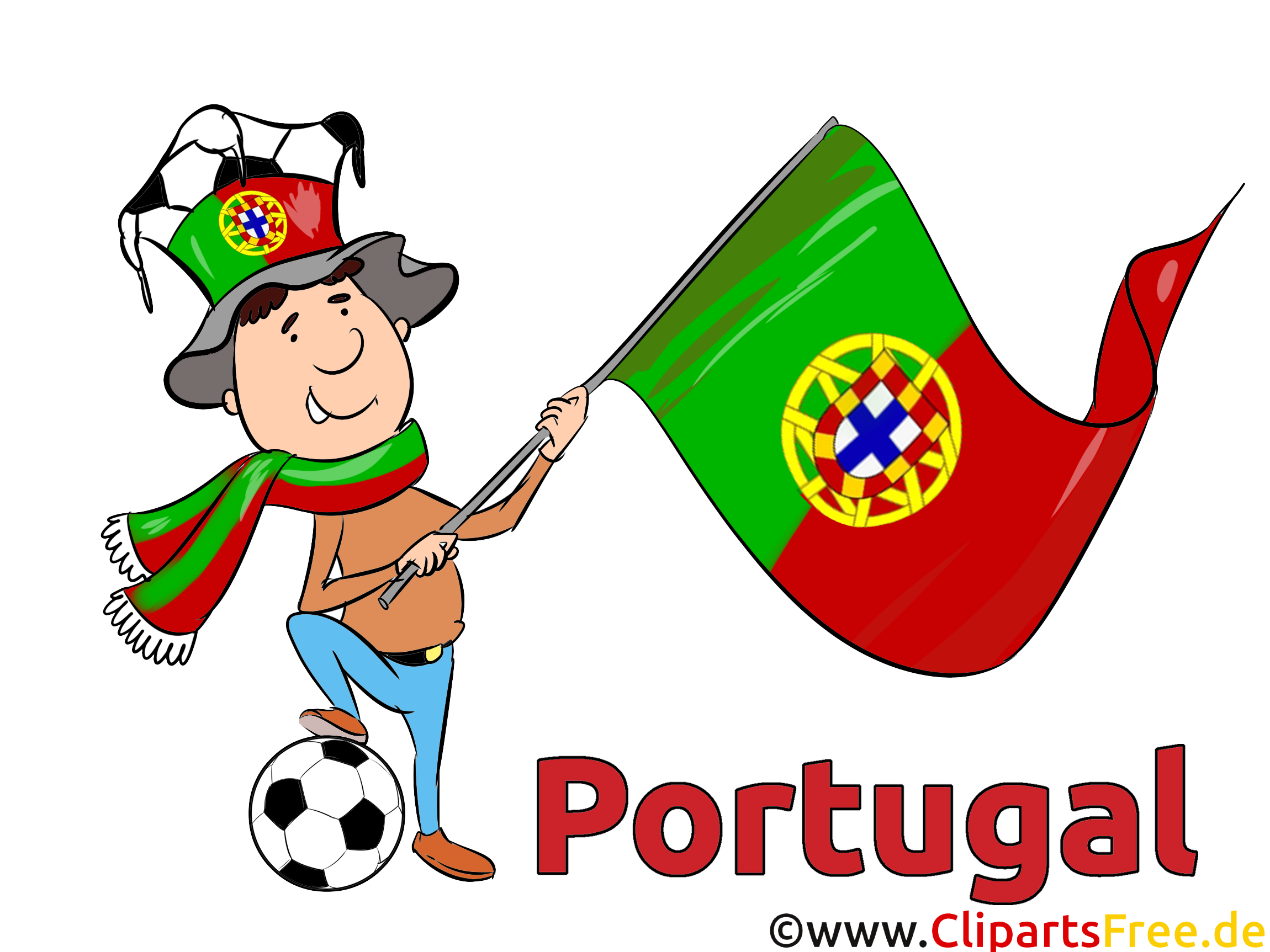 clip art football portugal world and europe cup
