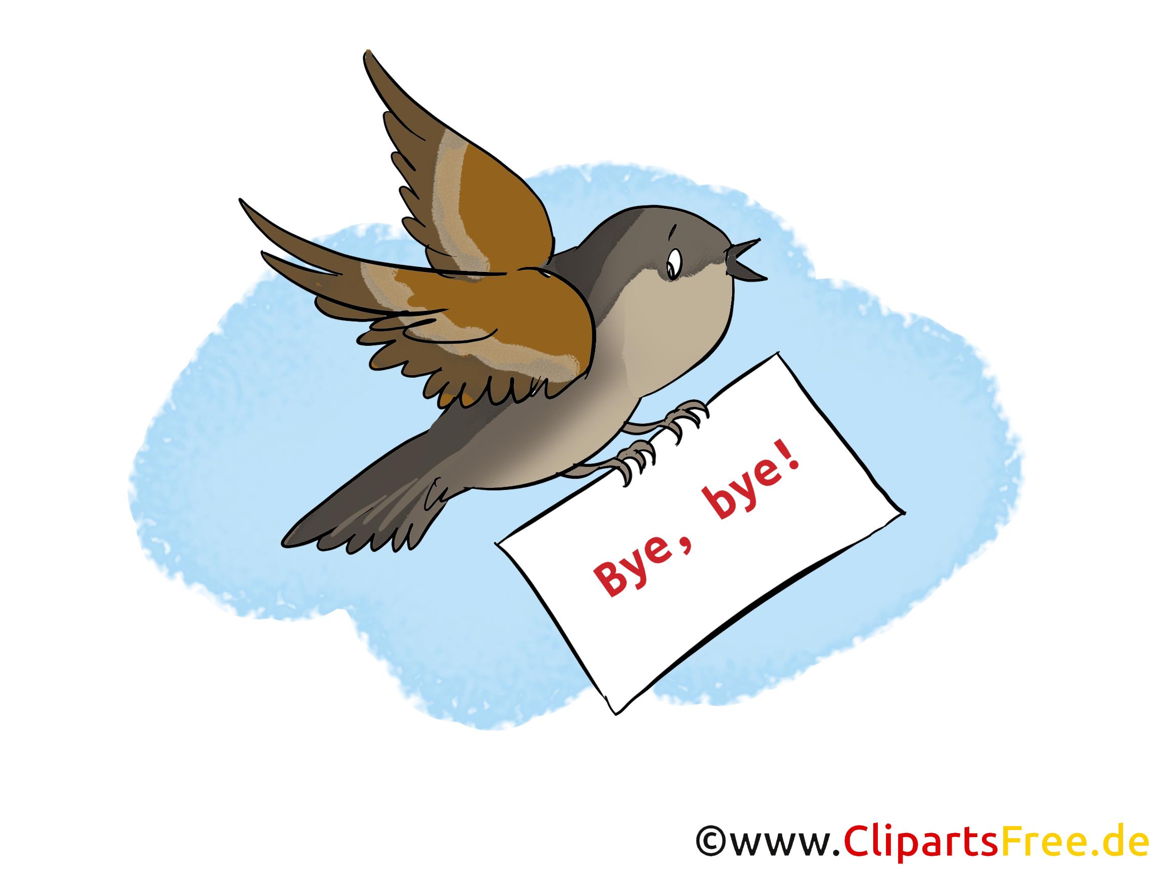 Zum Abschied einer Kollegin Karte, Clipart, Cartoon, Bild