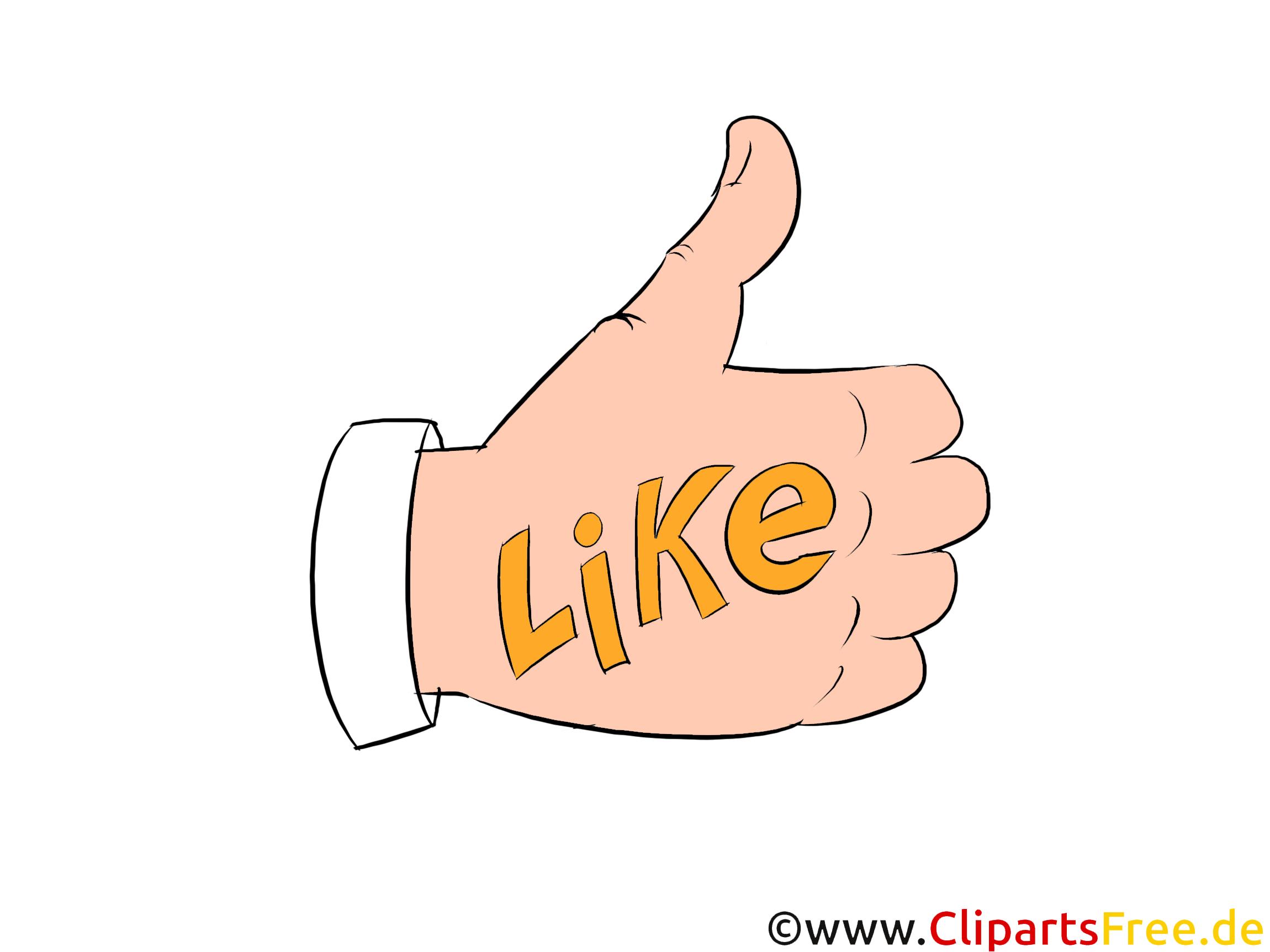 Like Clipart - Daumen hoch Bild