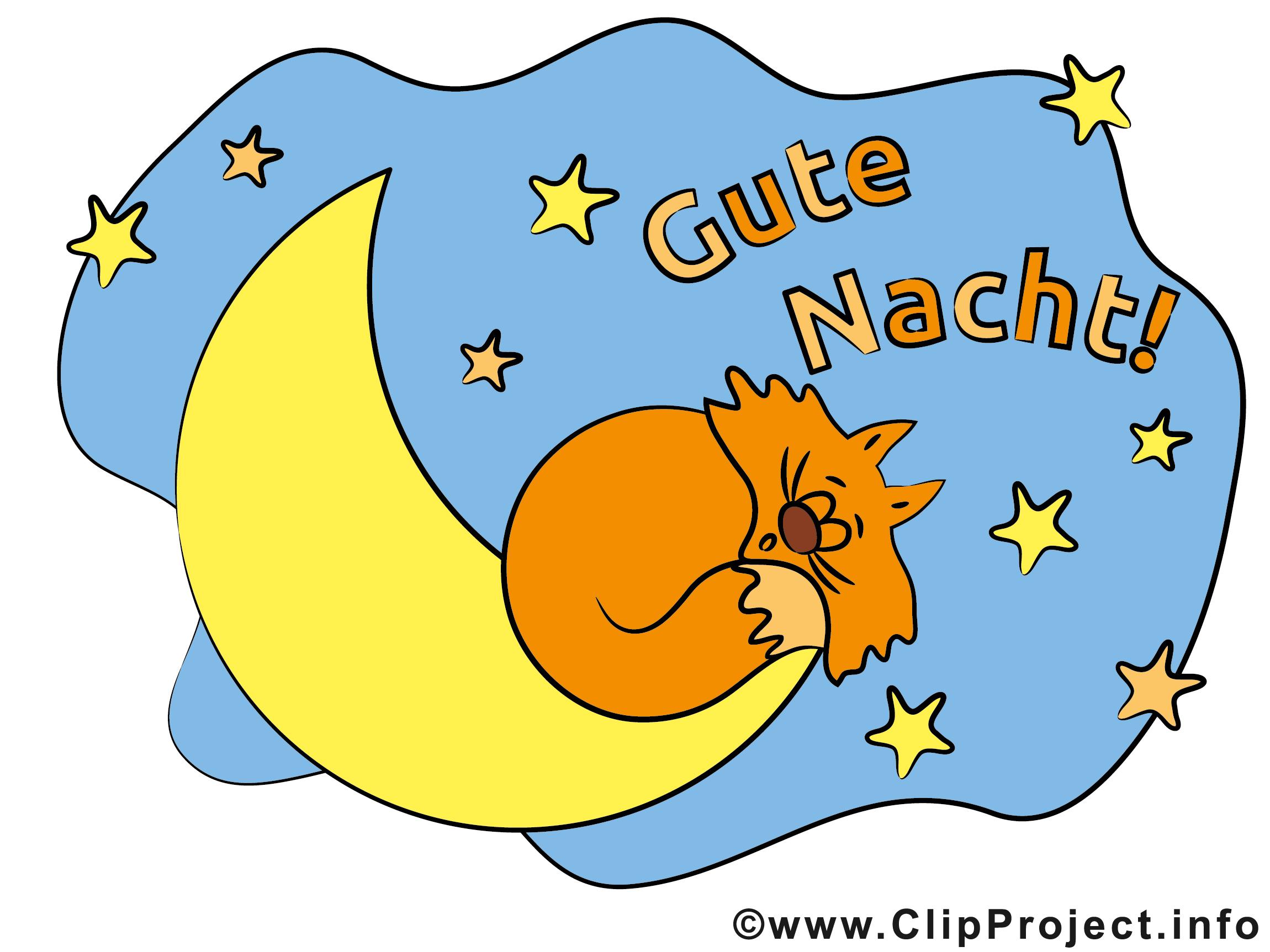 Katze auf dem Mond Clipart