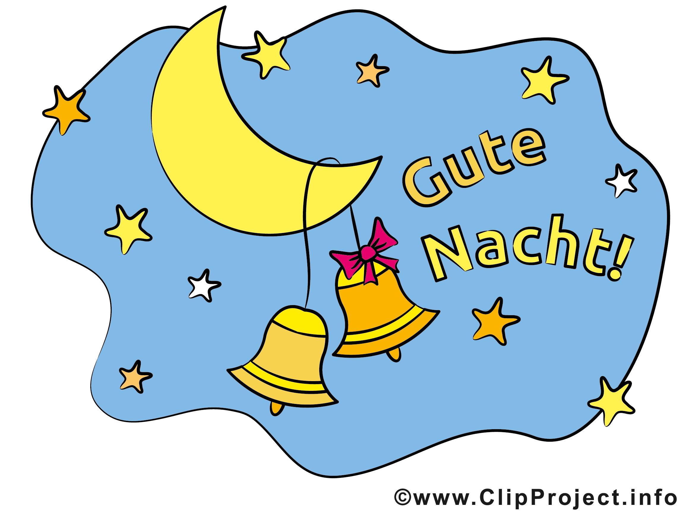Mond mit Glocken Clipart