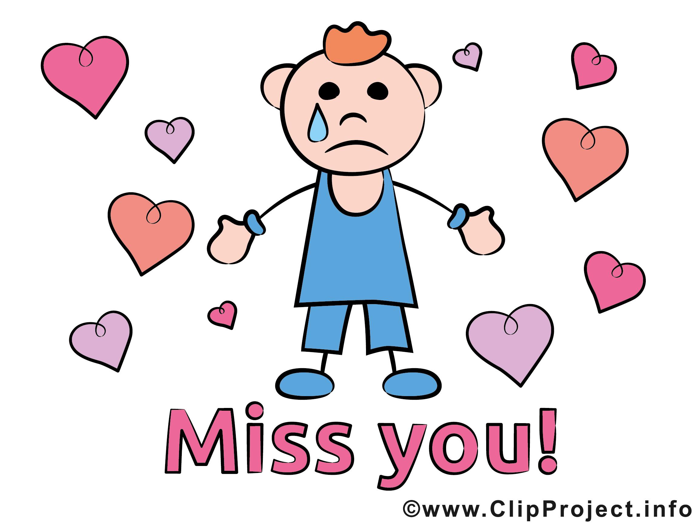 Ich vermisse Dich Clipart