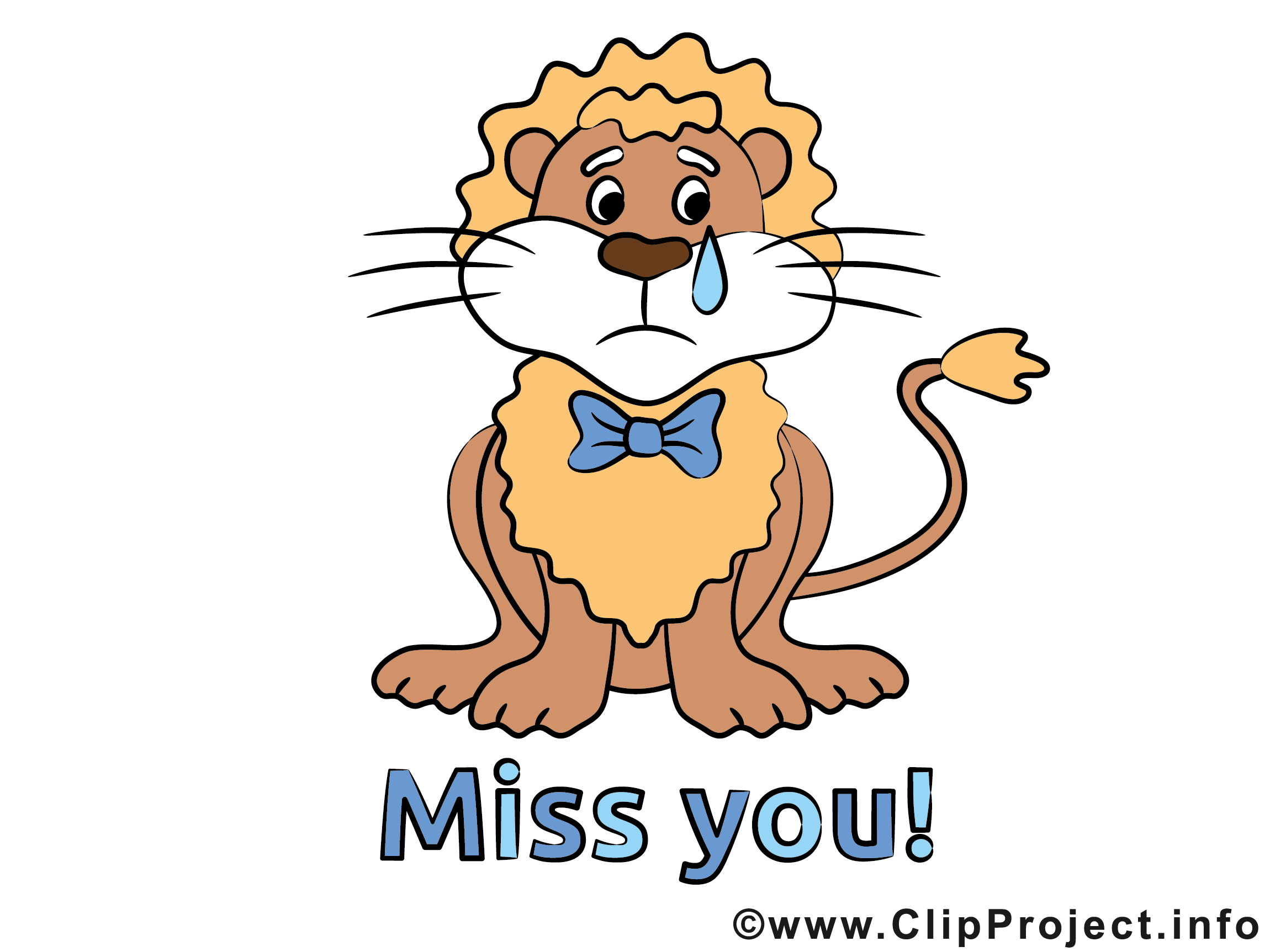 Miss you Loewe Clipart