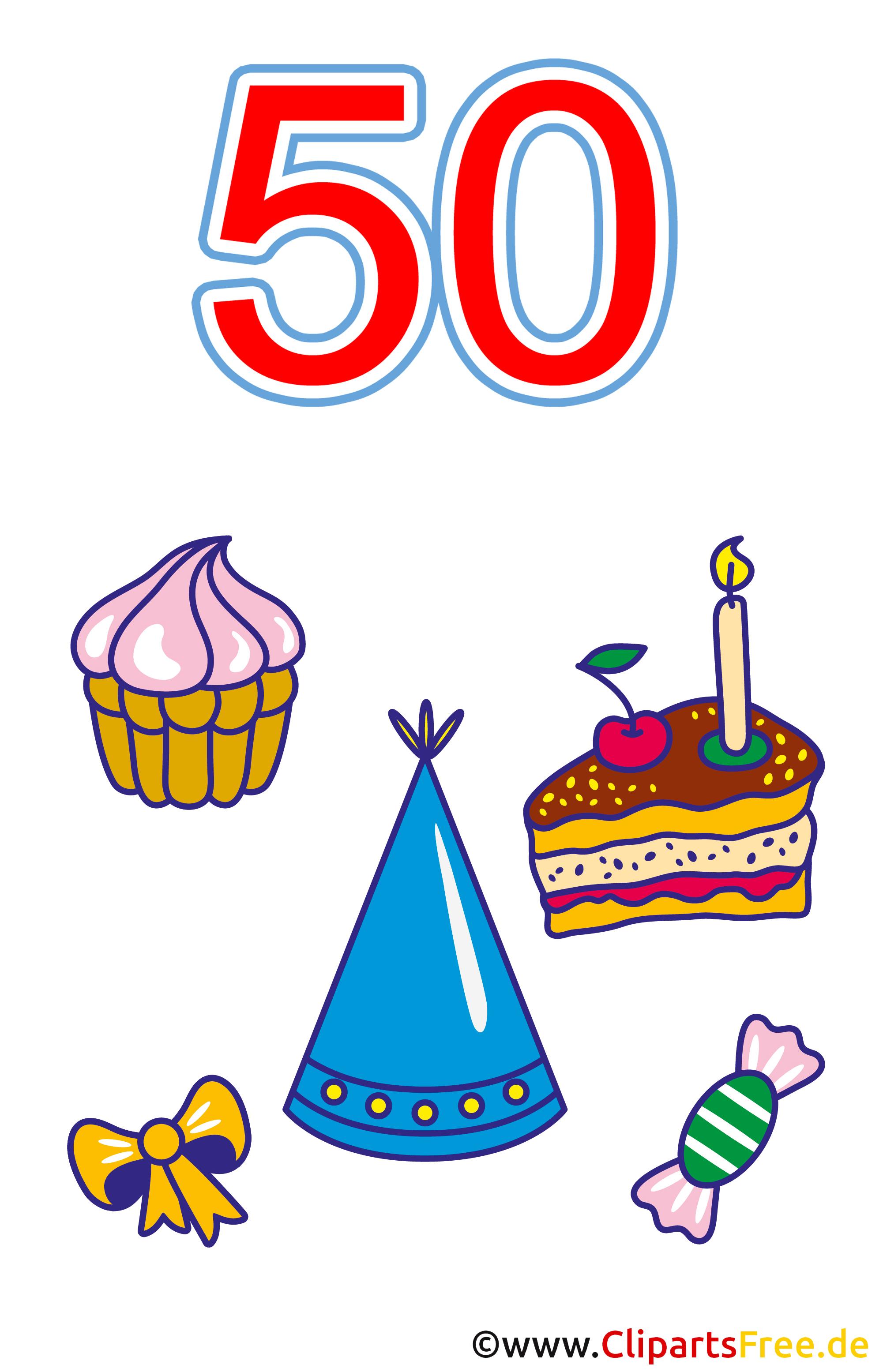 50 Geburtstag Clipart kostenlos