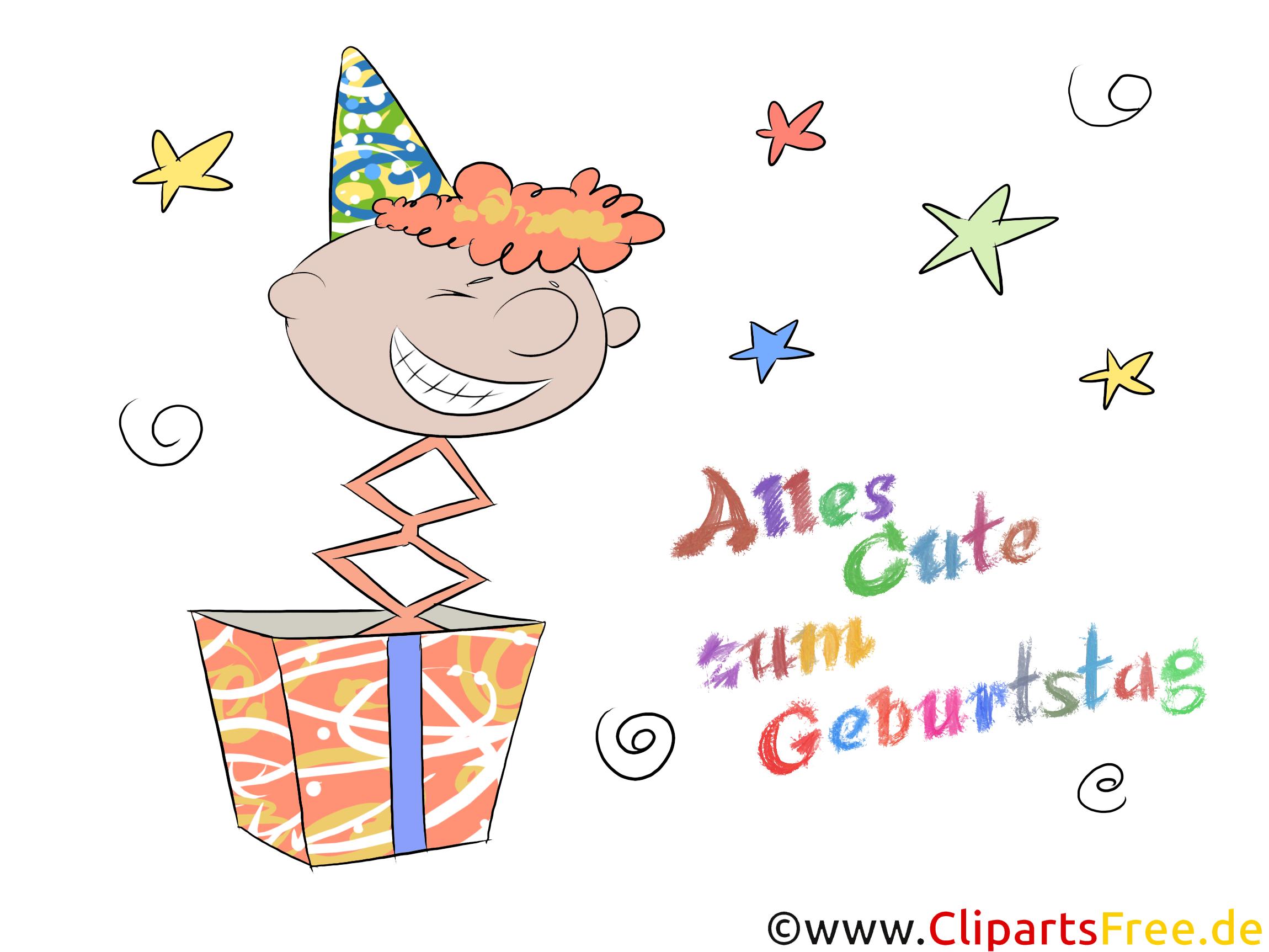 Alles Gute zum Geburtstag Karte, eCard, e-Karte zum Drucken