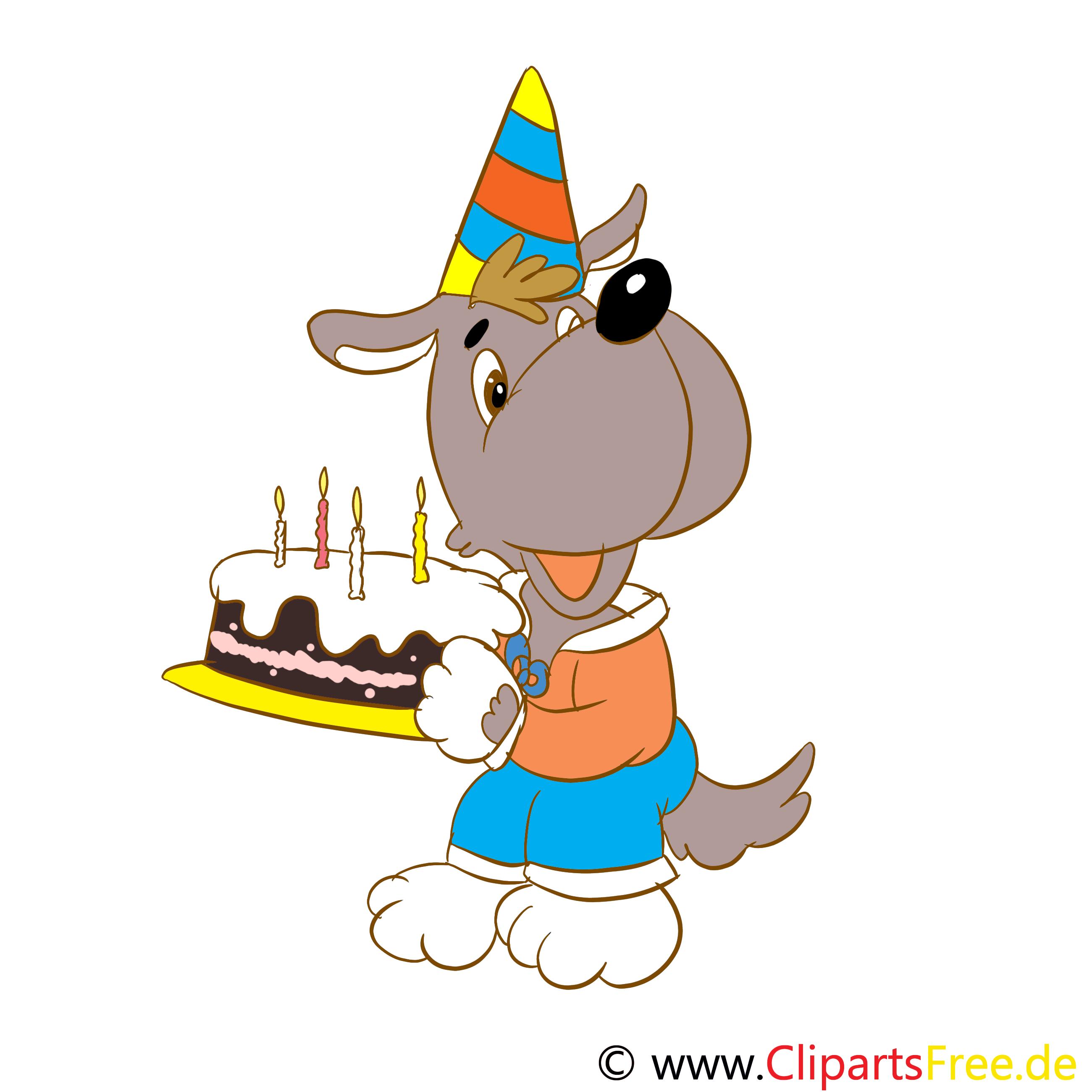 Clipart Kuchen zum Geburtstag gratis zum Runterladen