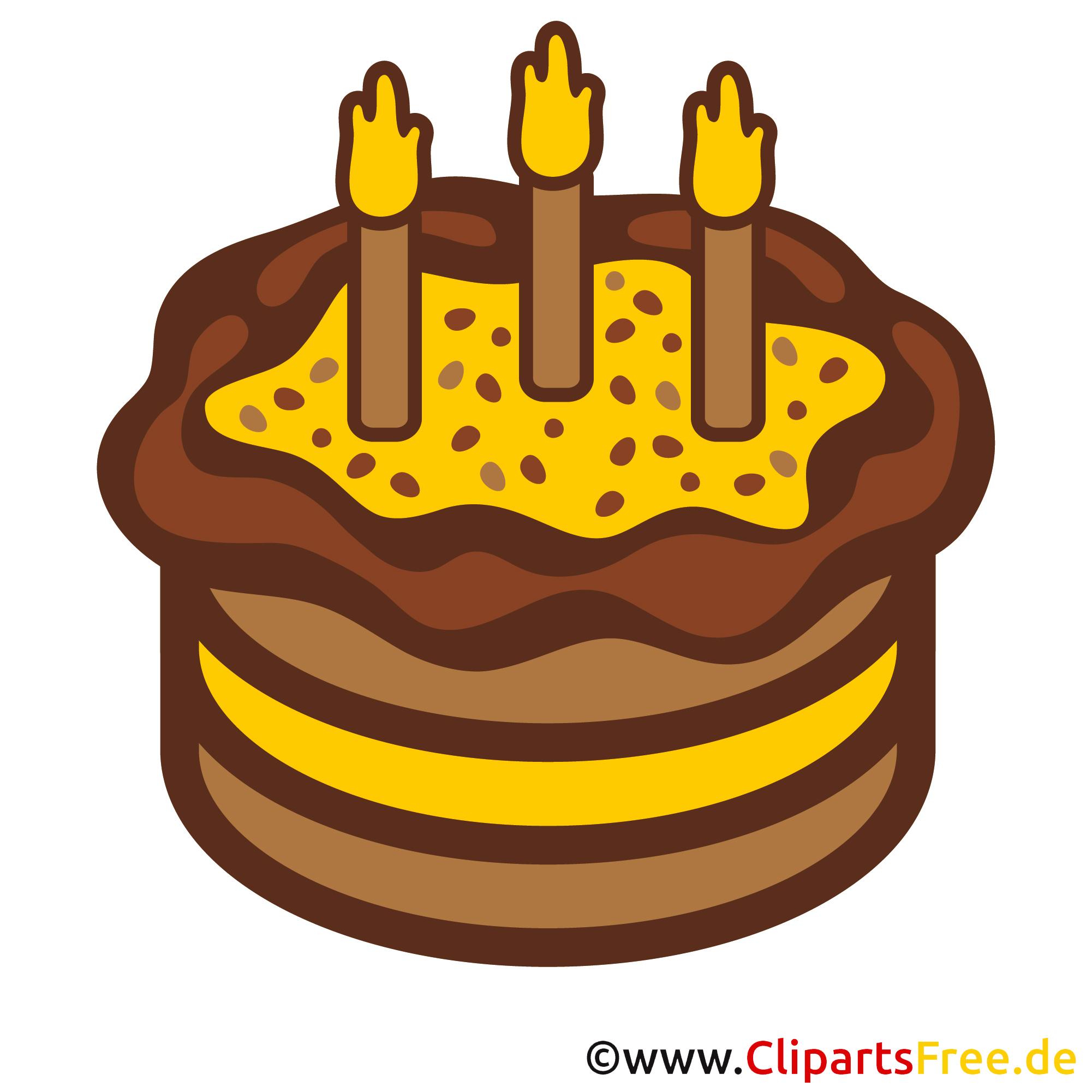 Clipart zum Geburtstag - Kuchen zum 3 Geburtstag