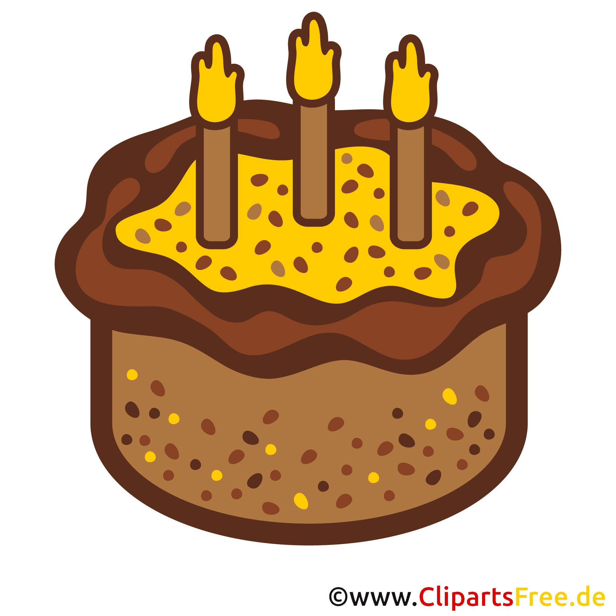 Einladung zum Geburtstag selbst gestalten - Clipart Geburtstagskuchen