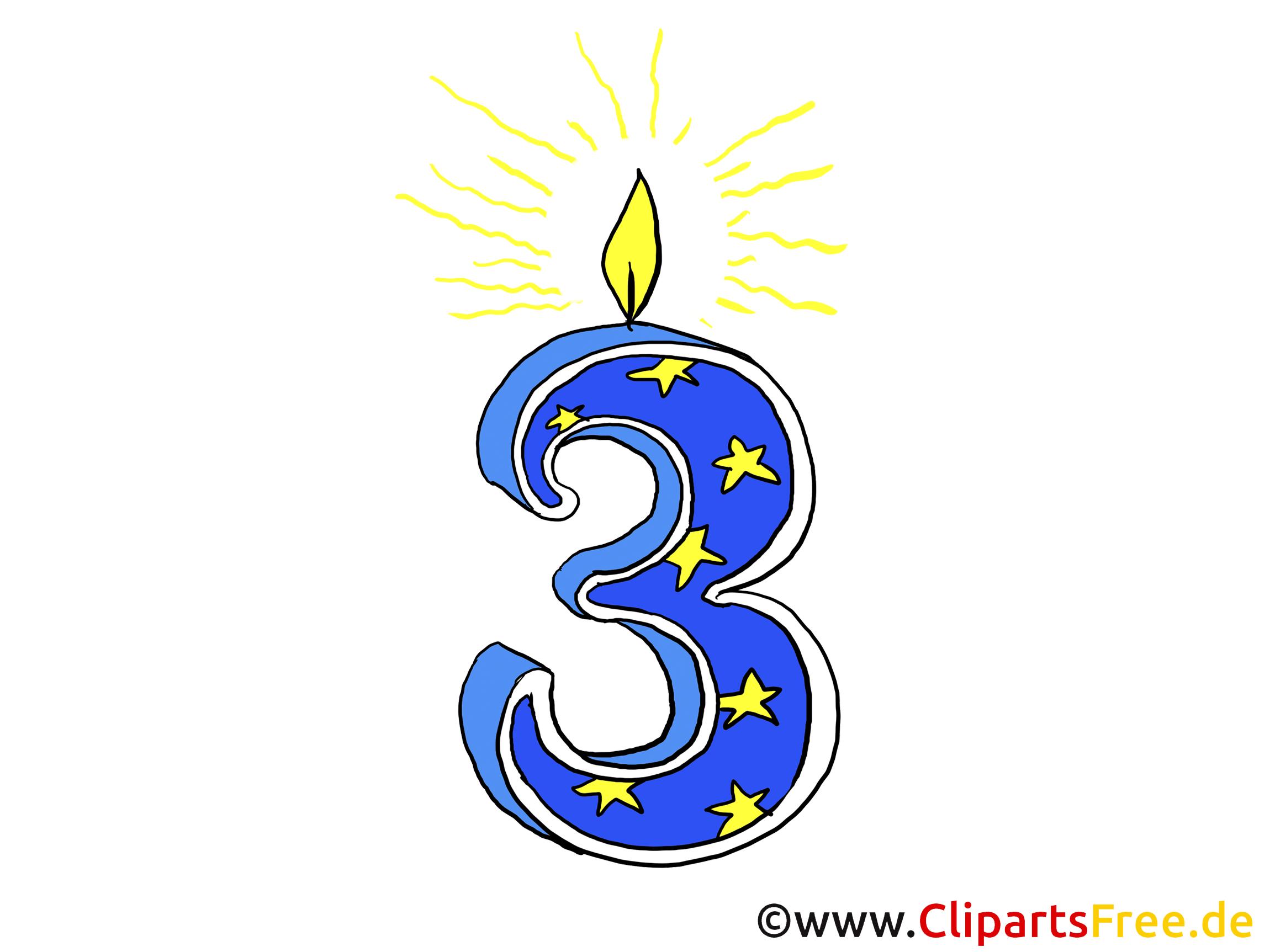 Geburtstag 3 Jahre Bild für Gestaltung einer Einladung