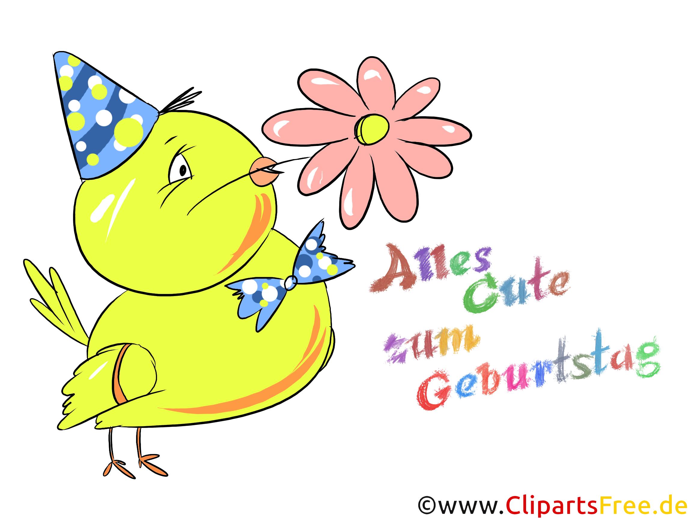 Geburtstag Bild, Clipart, Karte, Wunsch für Kinder