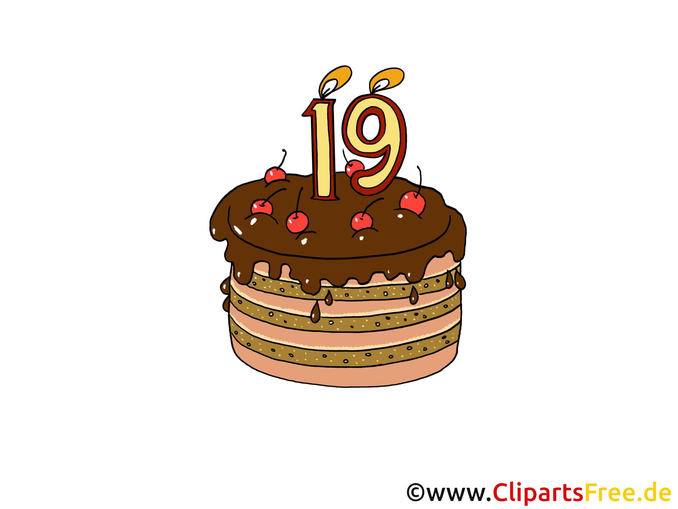 Geburtstagstorte Illustration, Bild, Grafik