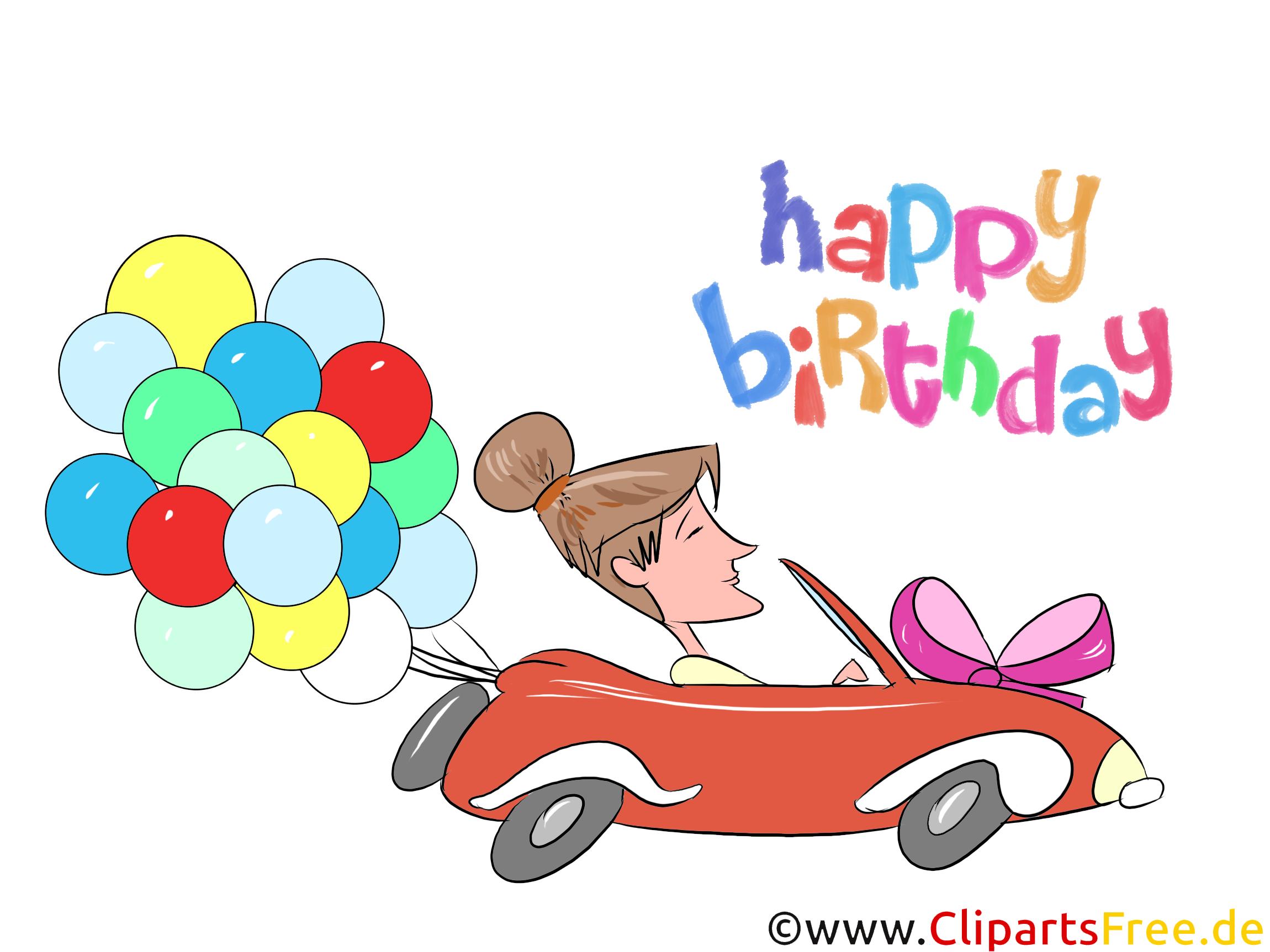 Geburtstagswünsche für Frauen - Clipart zum Geburtstag