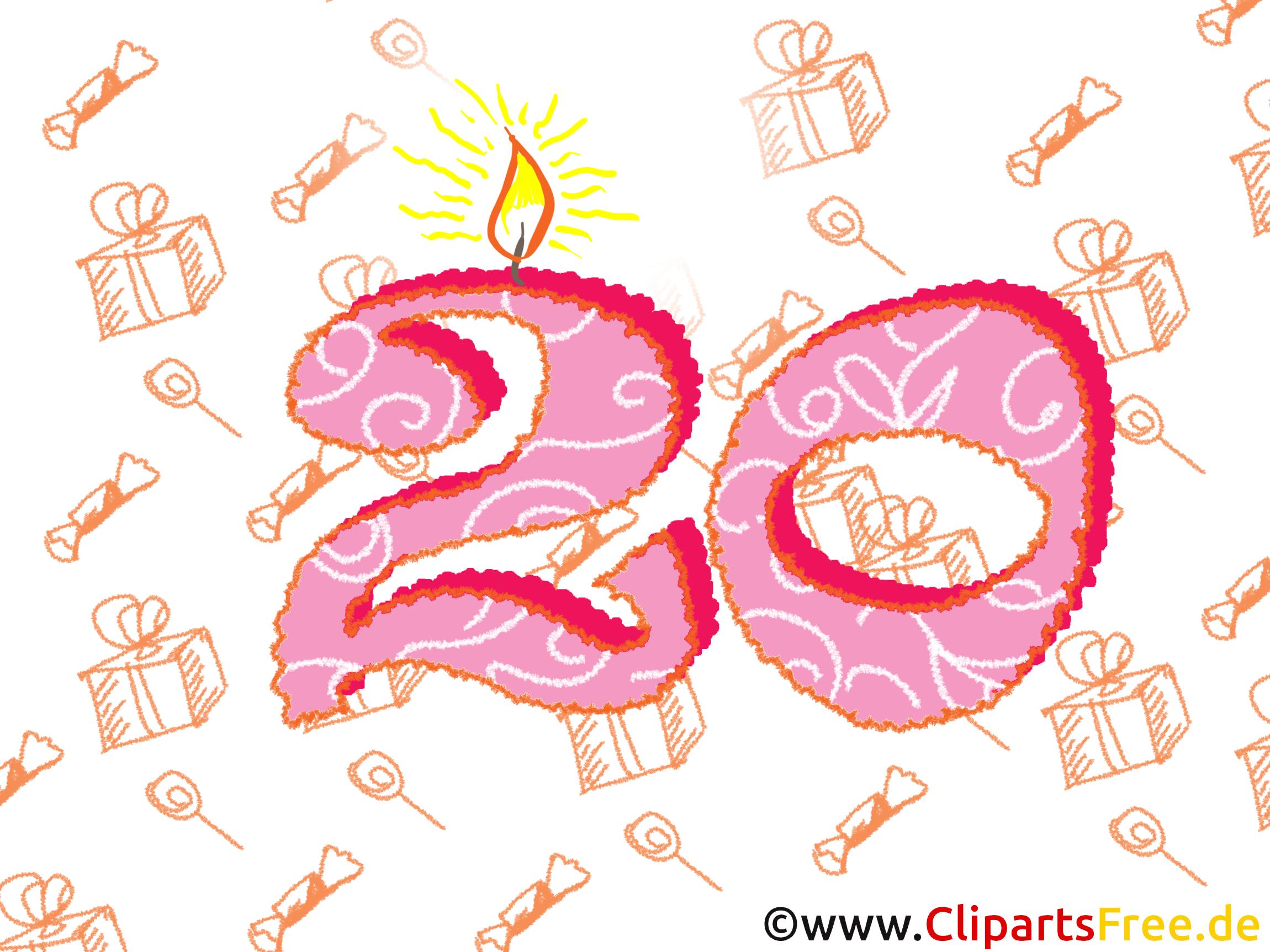 Geburtstagswünsche zum 20.Geburtstag
