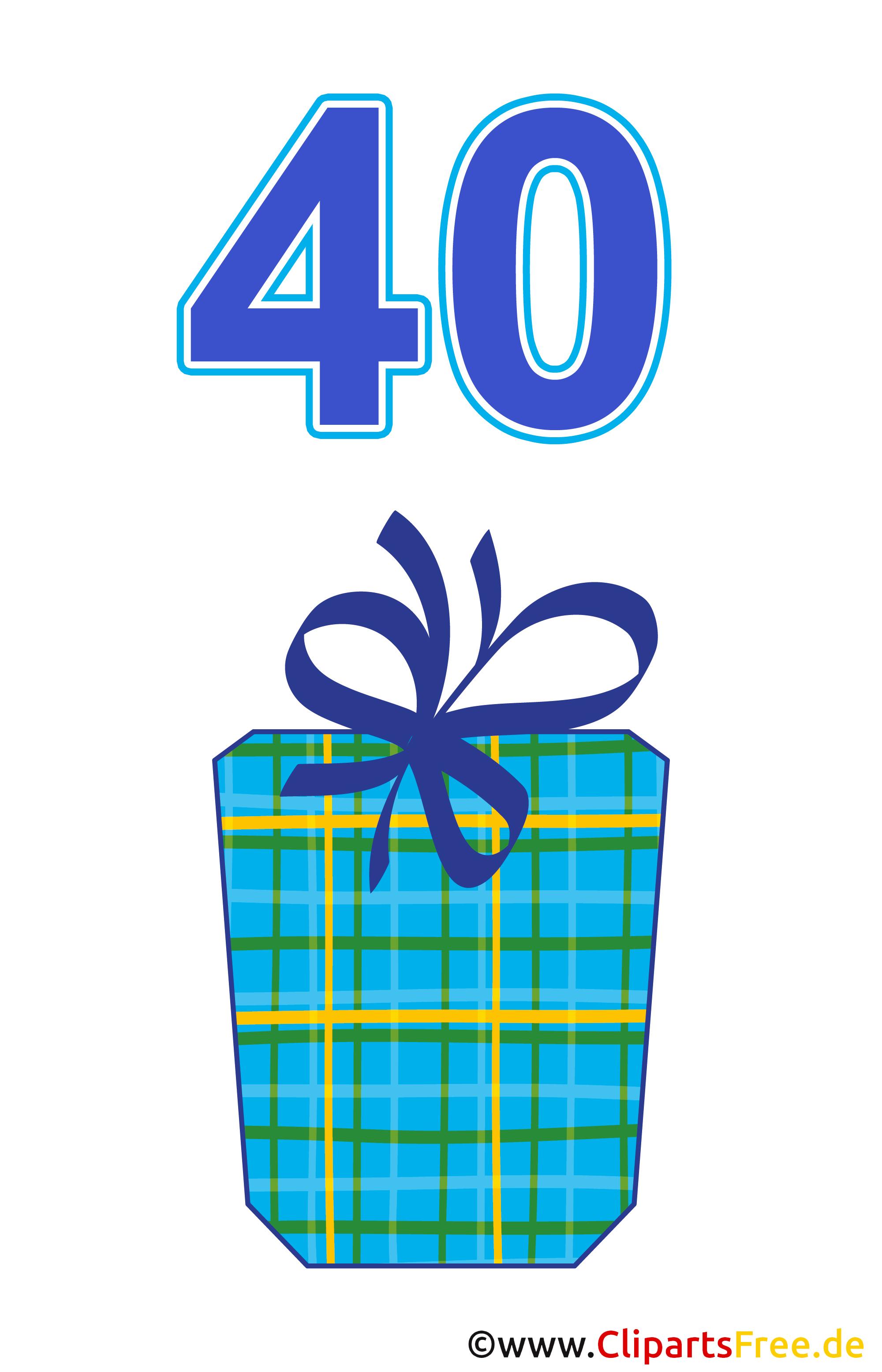 Geschenk zum 40 geburtstag clipart gratis for Clipart gratis download