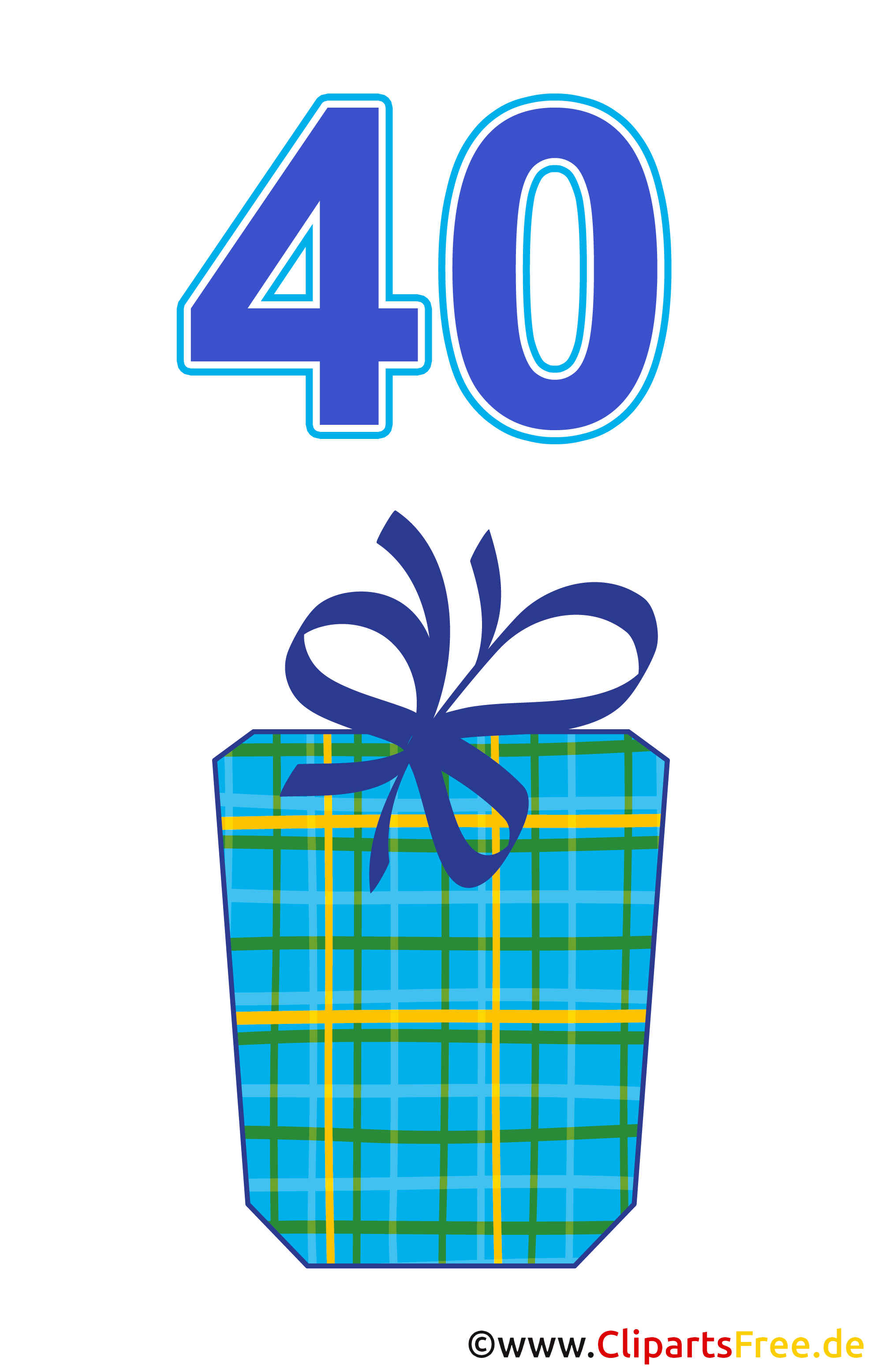 Geschenk zum 40 Geburtstag Clipart gratis